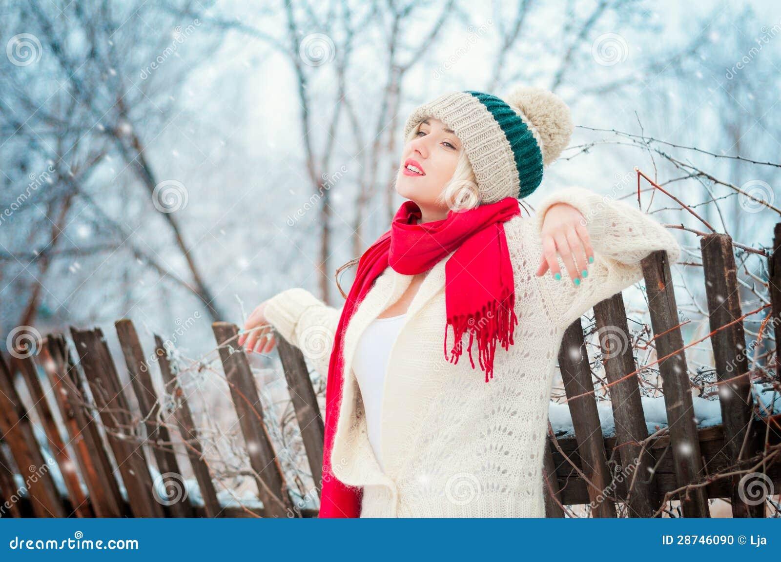 Het portret van de Vrouw van de winter
