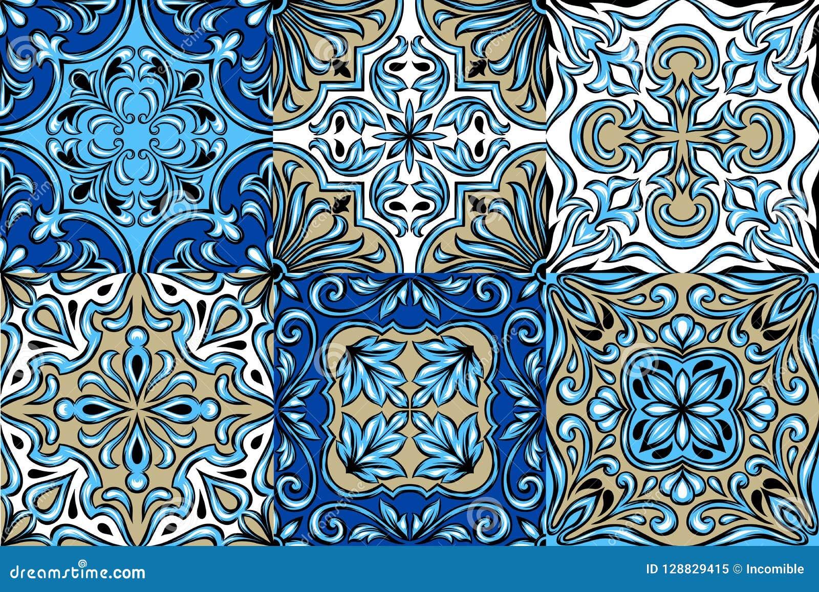 Het Portugese patroon van de azulejokeramische tegel