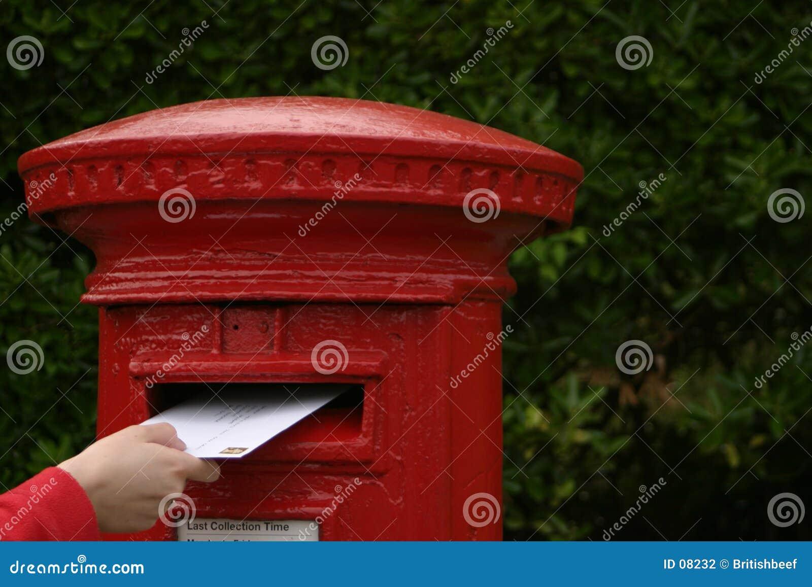 Het posten van een brief