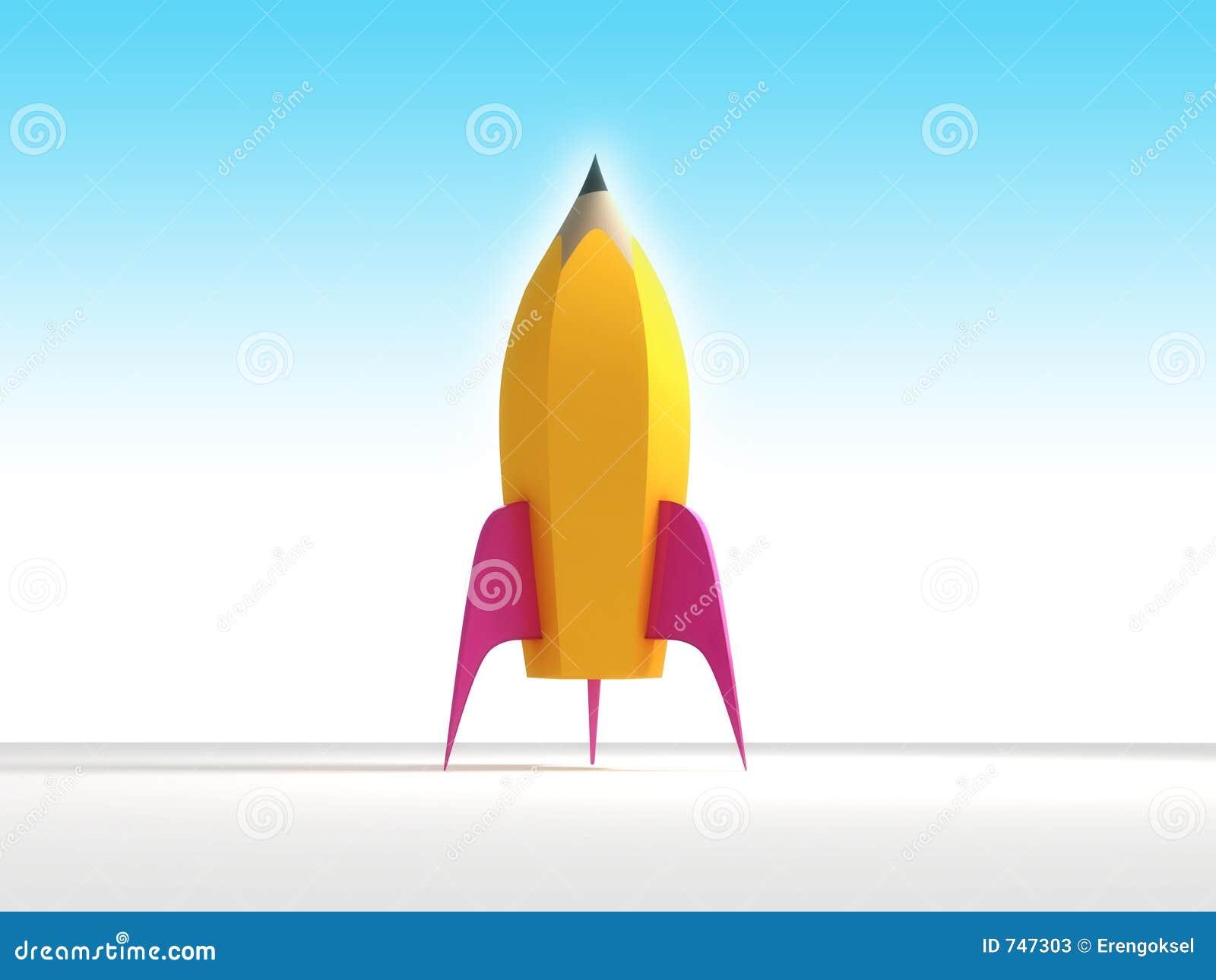 Het potlood van de raket