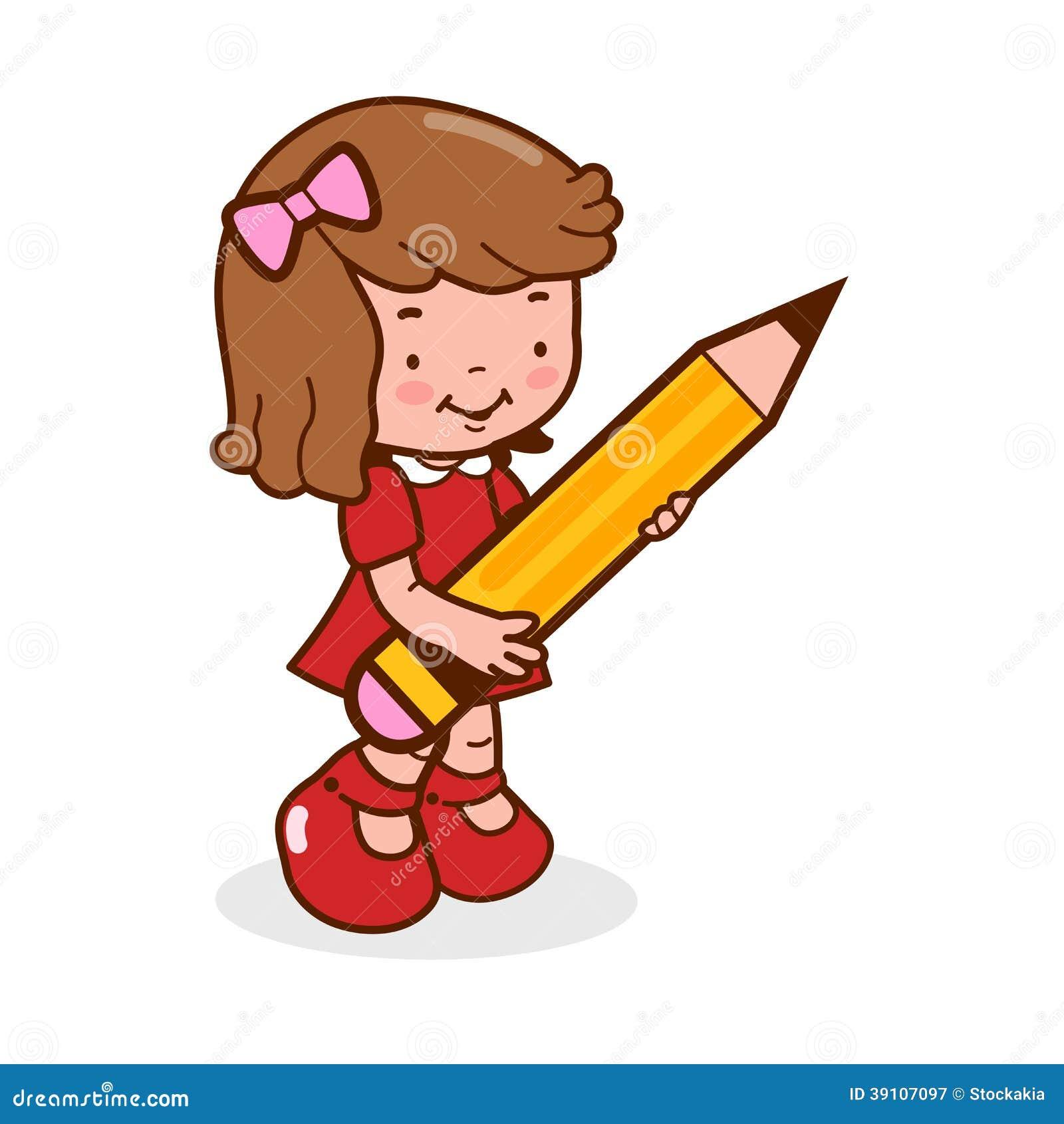 Het potlood van de studentenholding