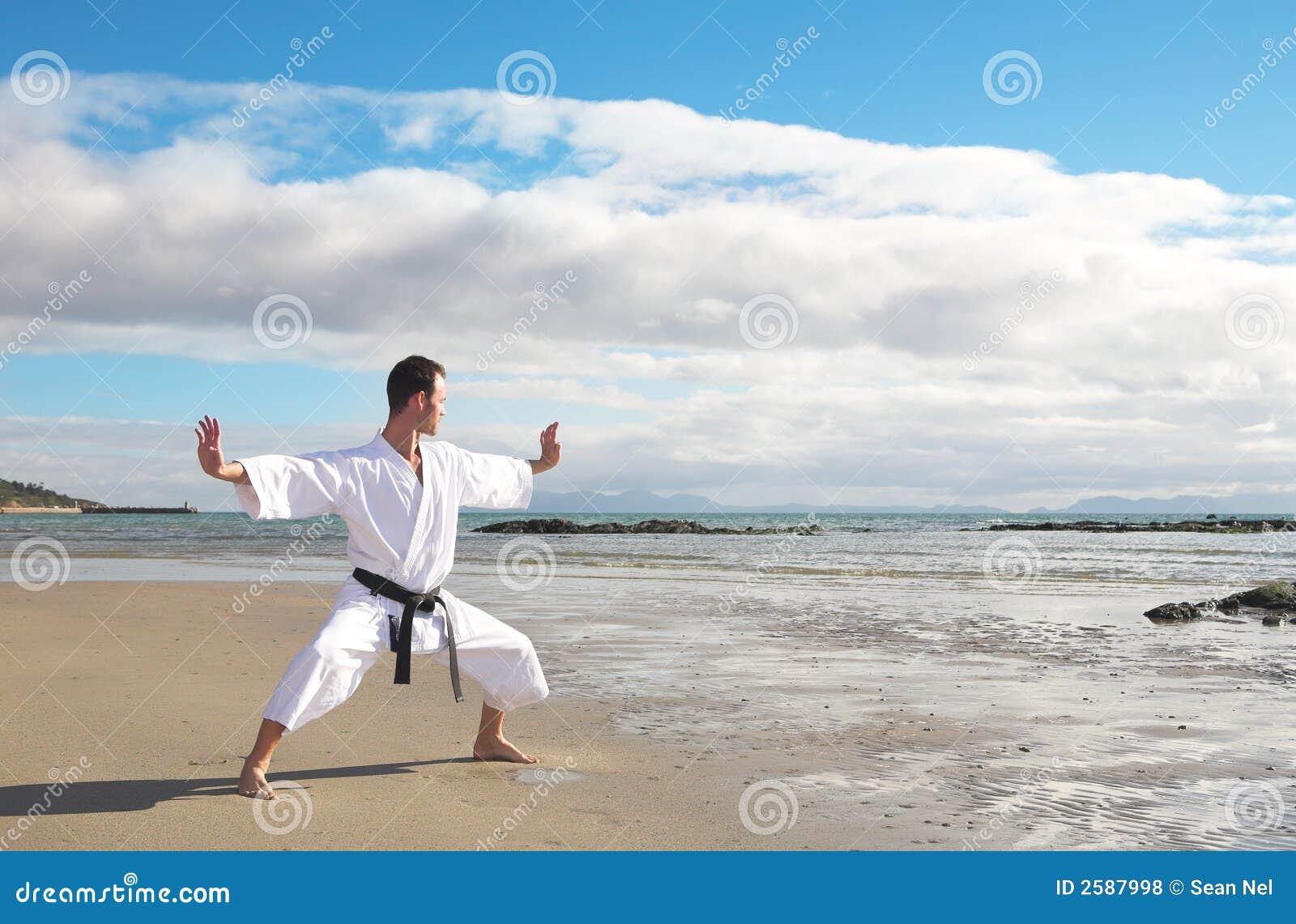 Het praktizeren van de mens Karate