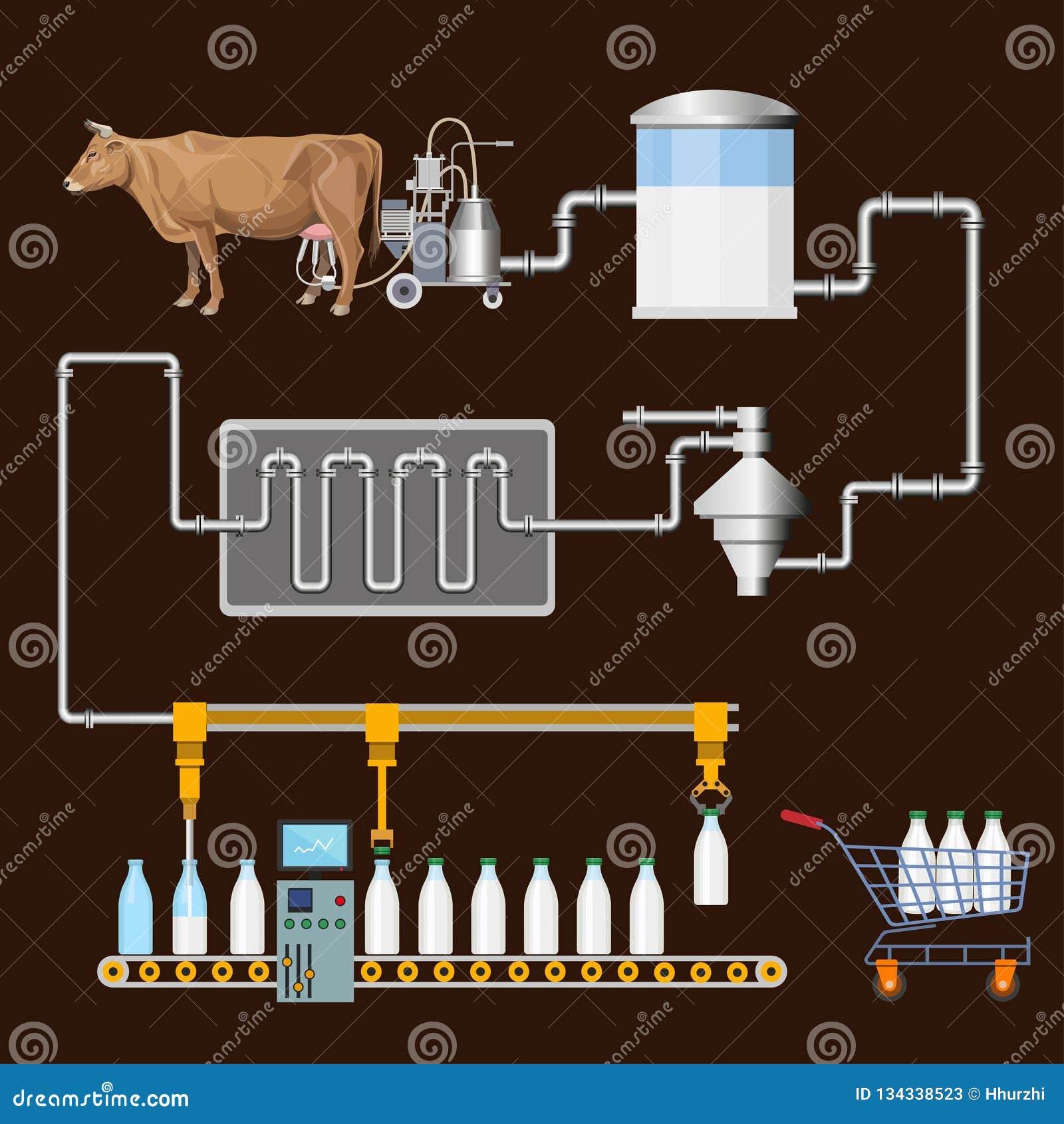 Het Proces van de melkproductie