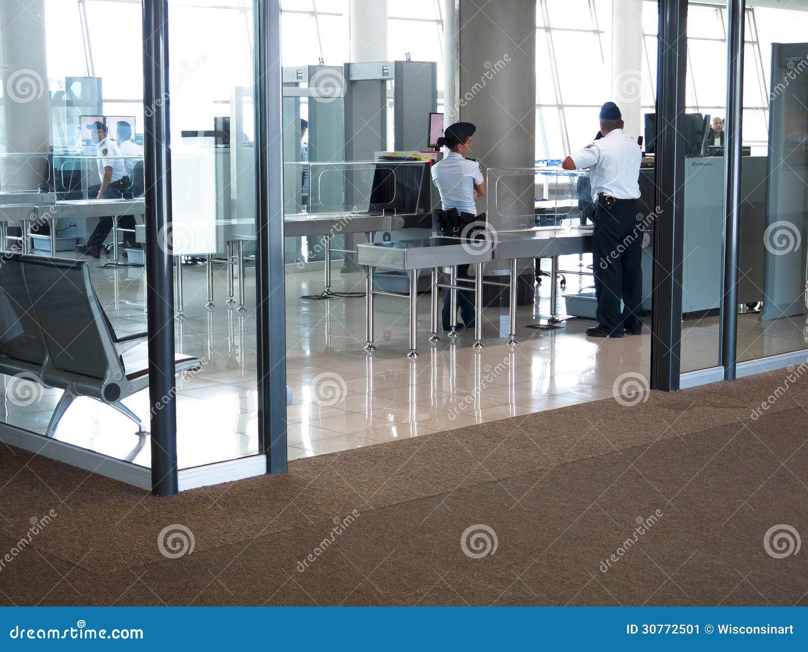 Het Punt van de luchthavenveiligheidscontrole