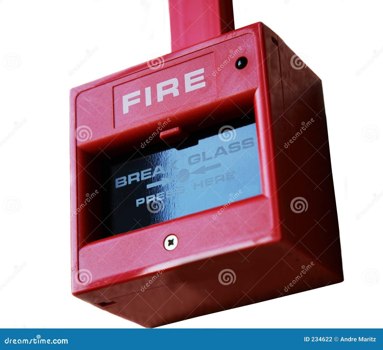 Het punt van het brandalarm