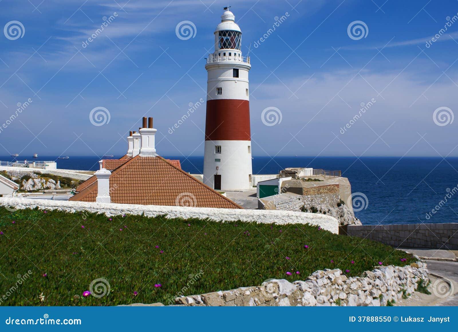 Het puntvuurtoren van Europa, Gibraltar