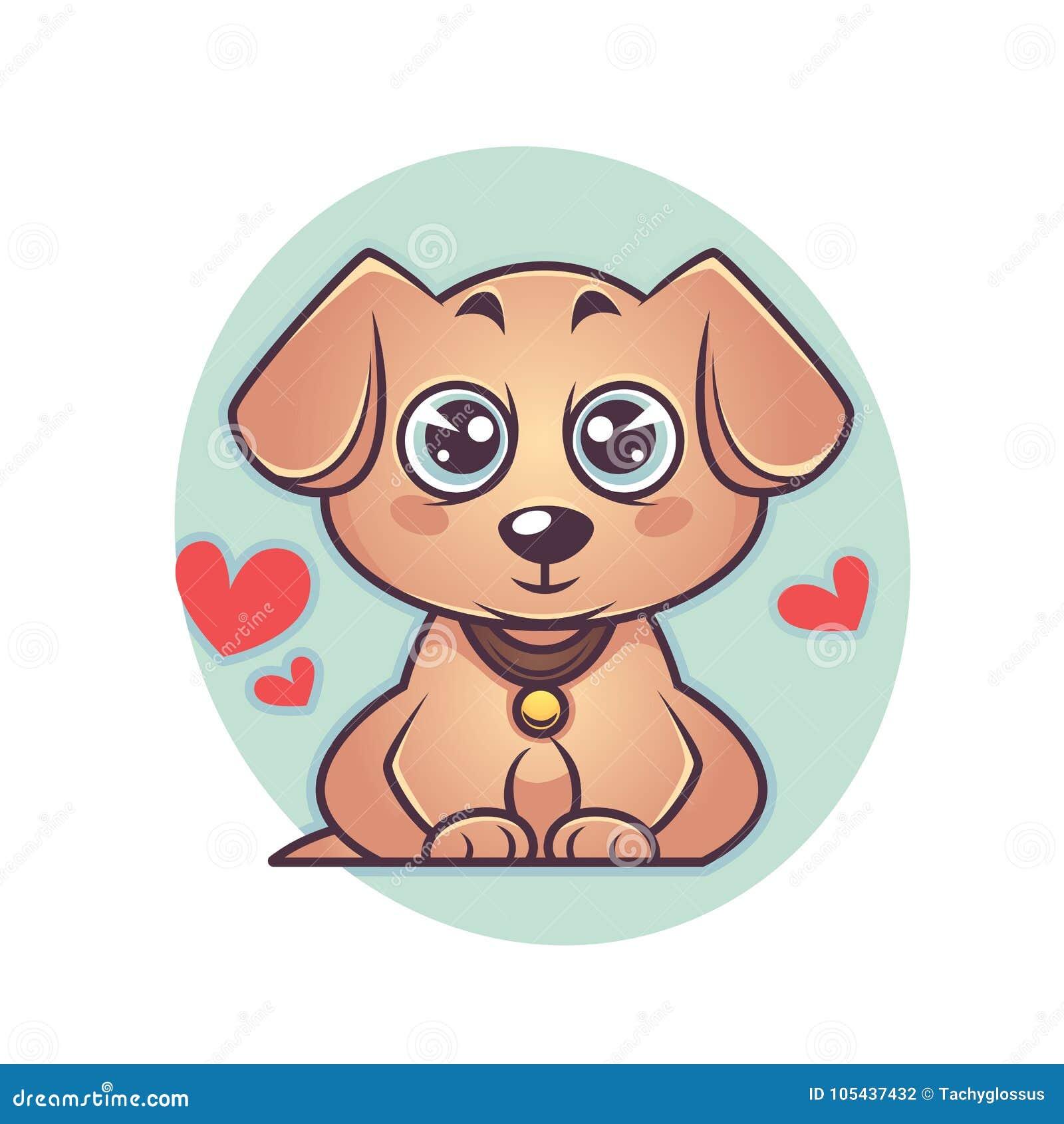 Het puppy van leuk en kawaiilabrador, hondsymbool van nieuw jaar