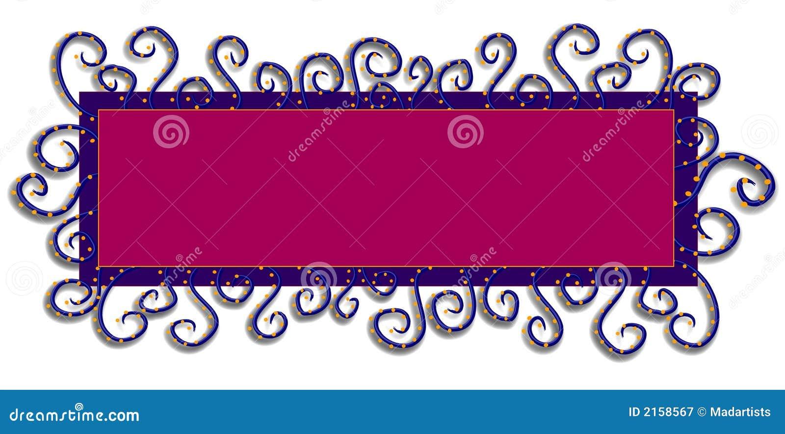 Het Purpere Roze van het Embleem van de Web-pagina