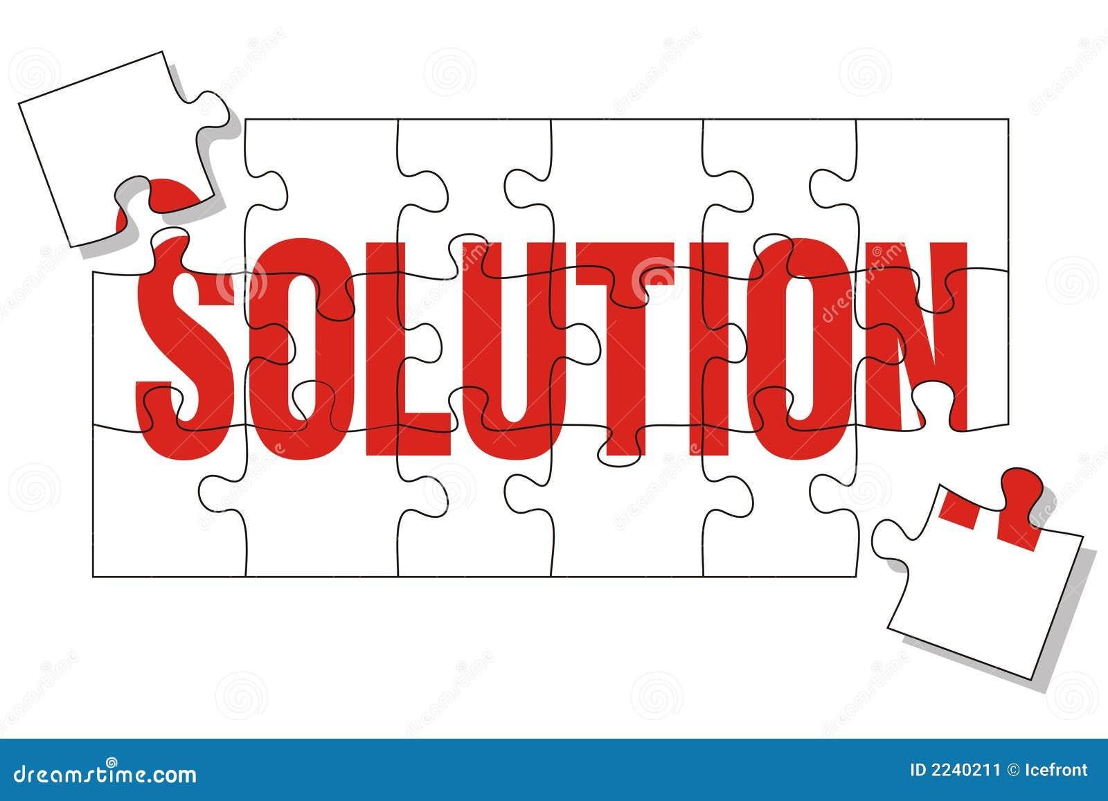 Het raadsel van de oplossing