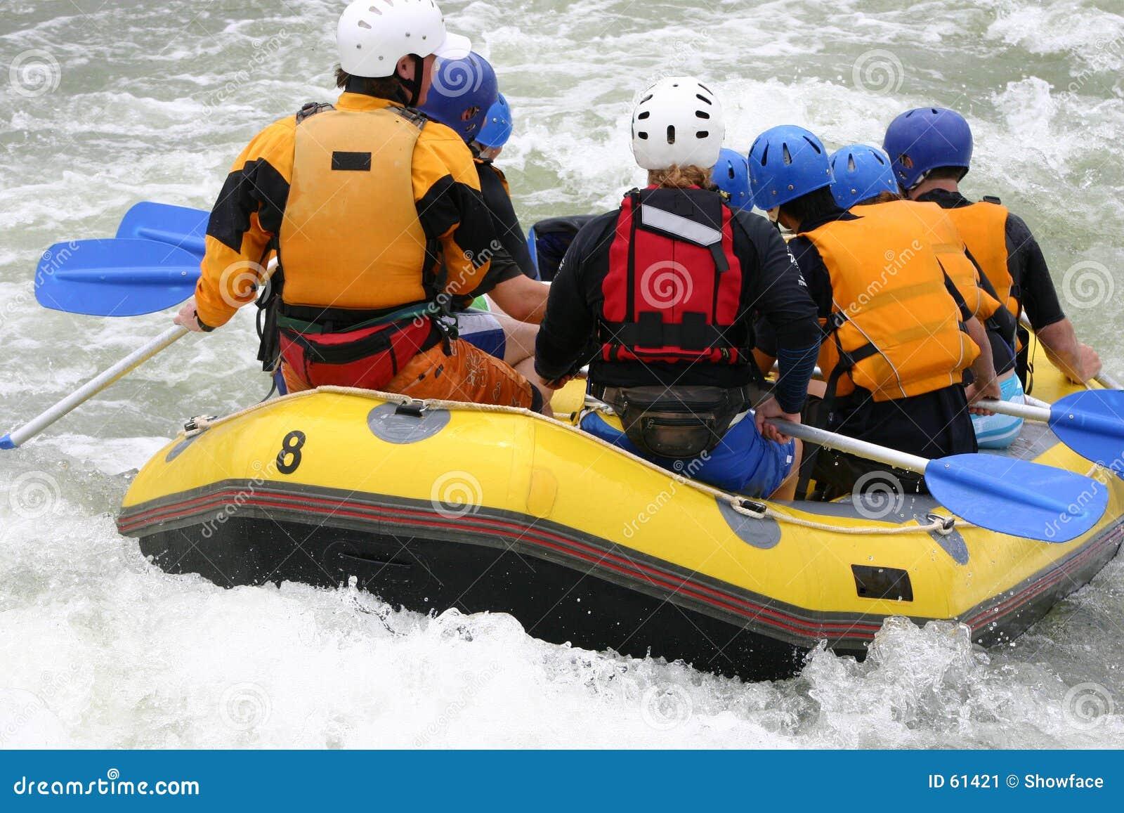 Het rafting van Whitewater