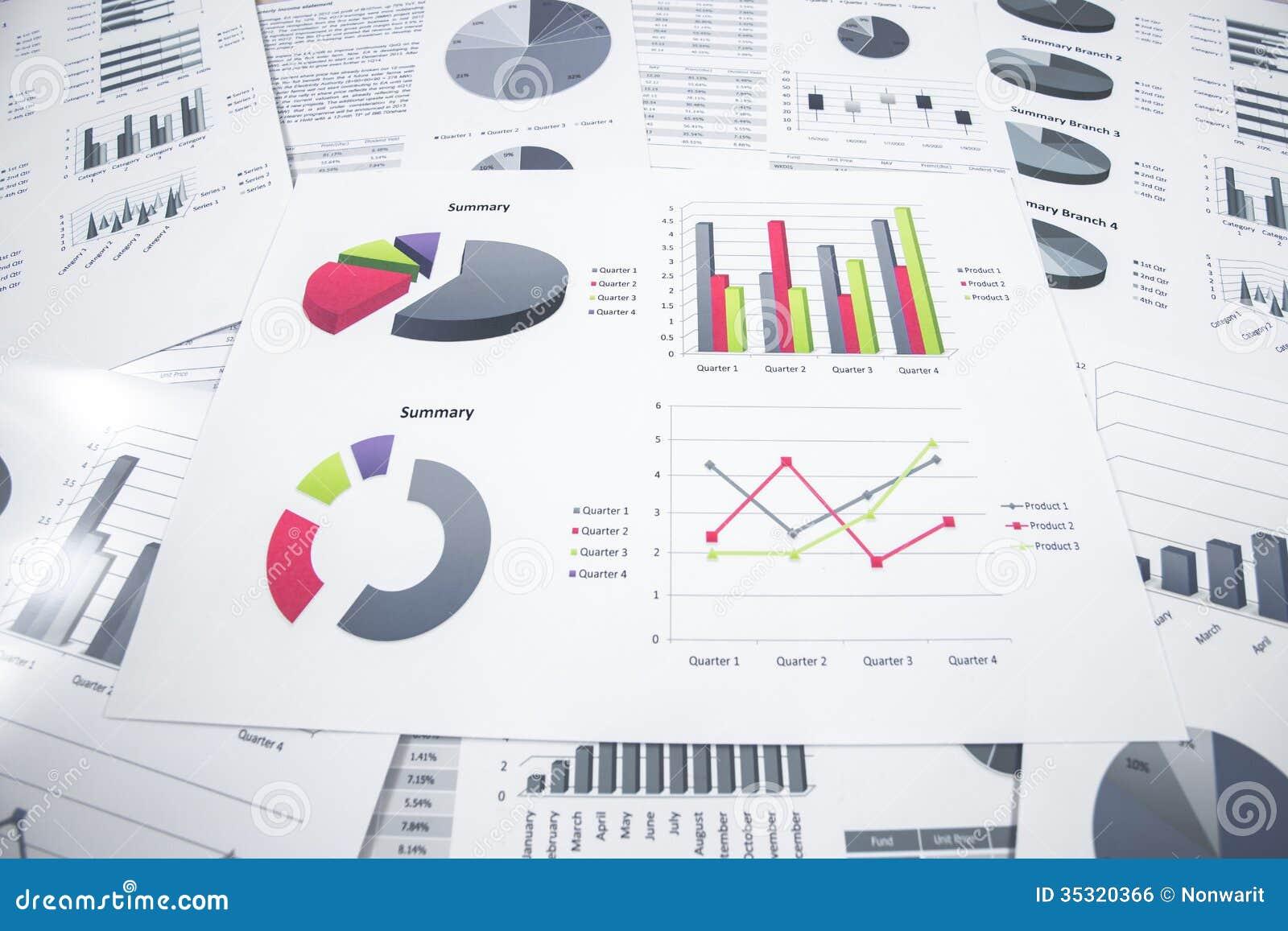 Het rapport van de bedrijfsgrafiekanalyse