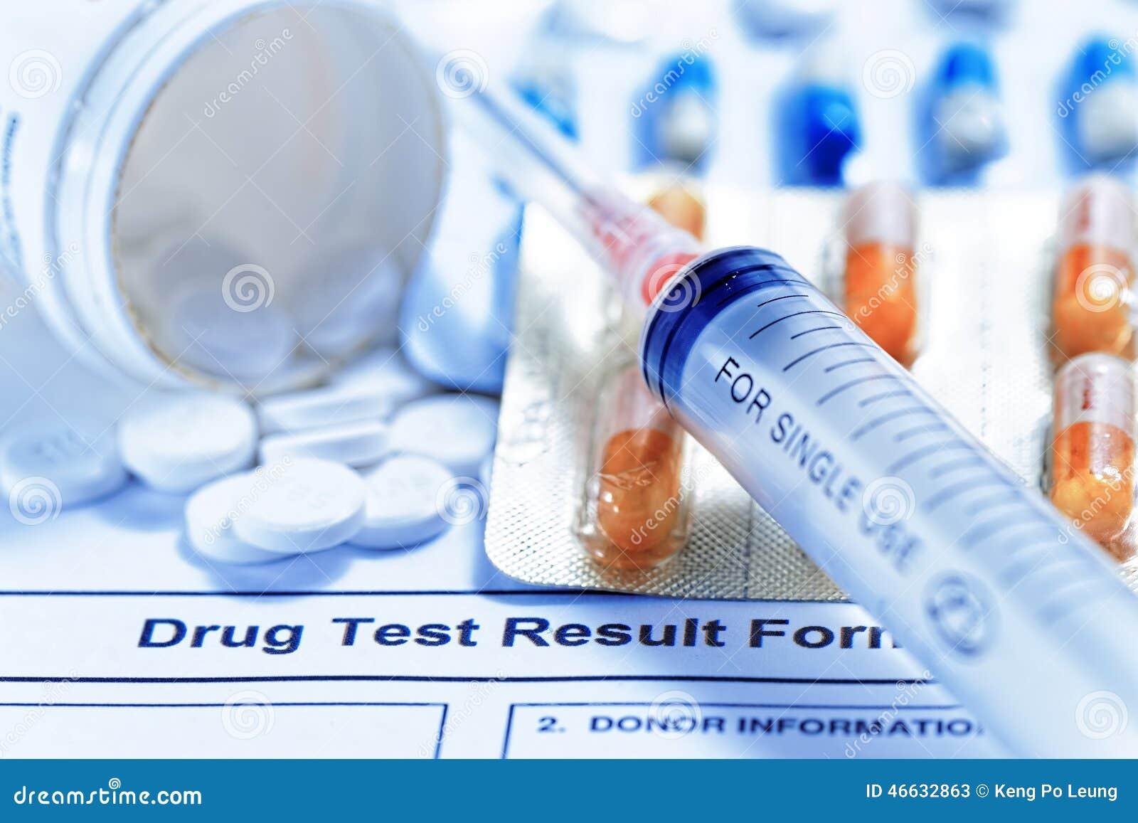 Het rapport van de drugtest