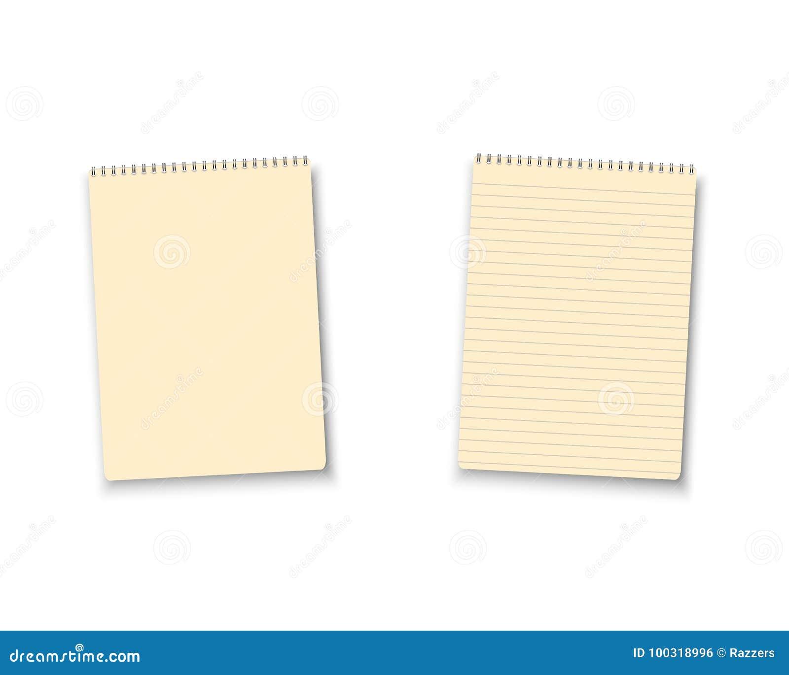 Het realistische Vector Lege Pictogram van het Blocnotehandboek De vectorreeks van het Blocnotemalplaatje