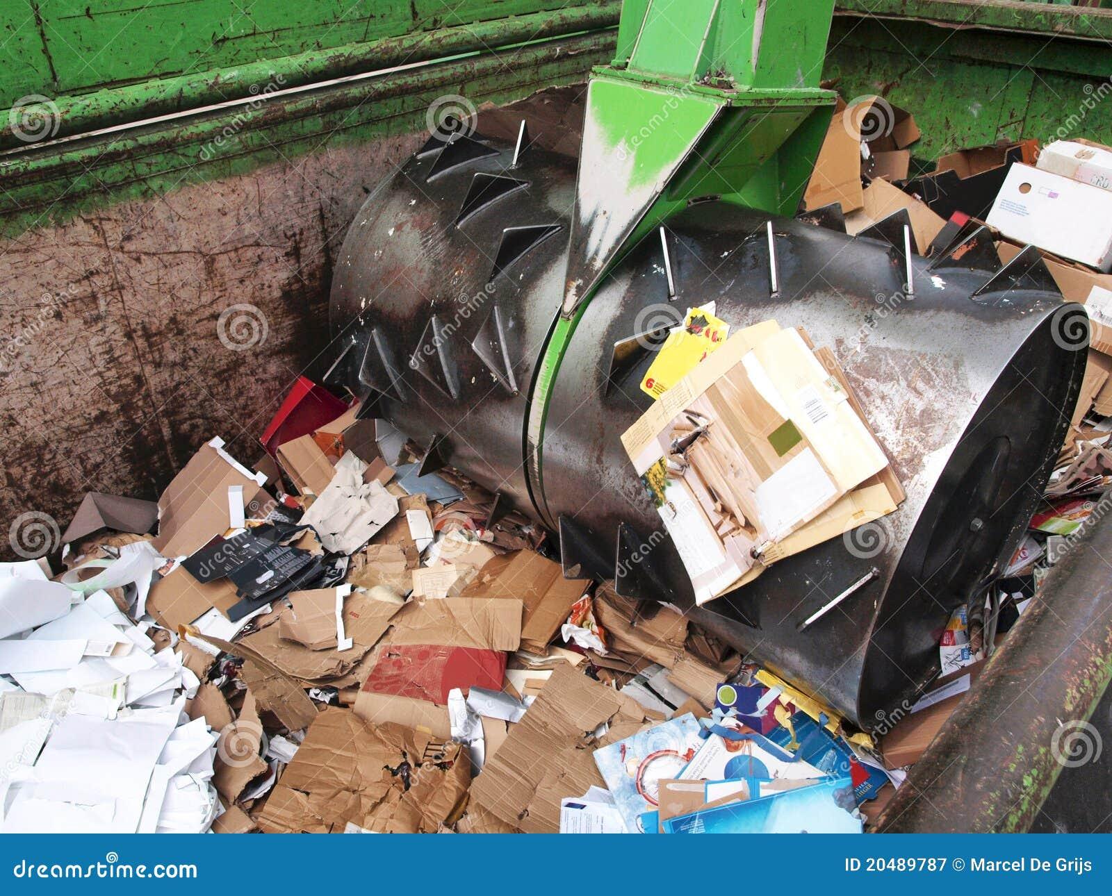 Het recycling van het document