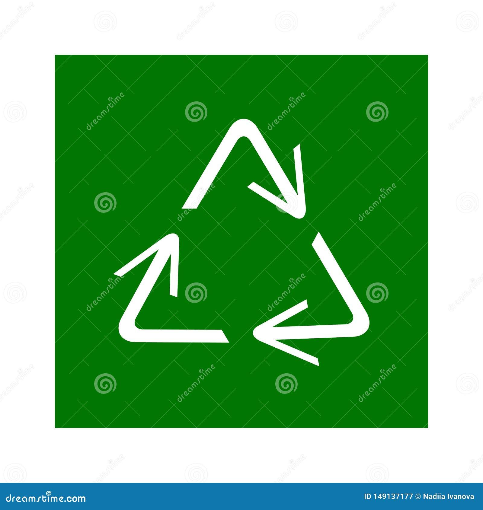 Het recycling van symbool van ecologisch zuivere fondsen, reeks pijlen