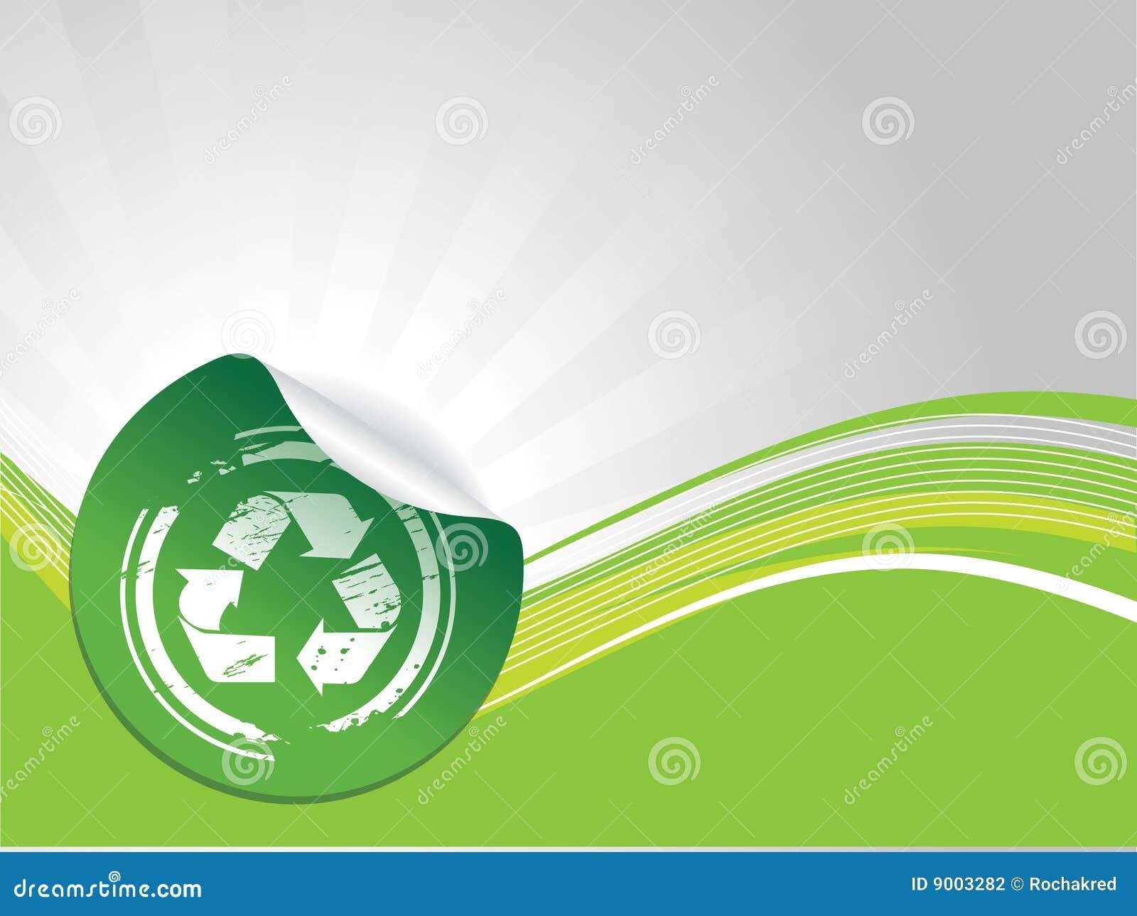 Het recyclingssymbool van Grunge
