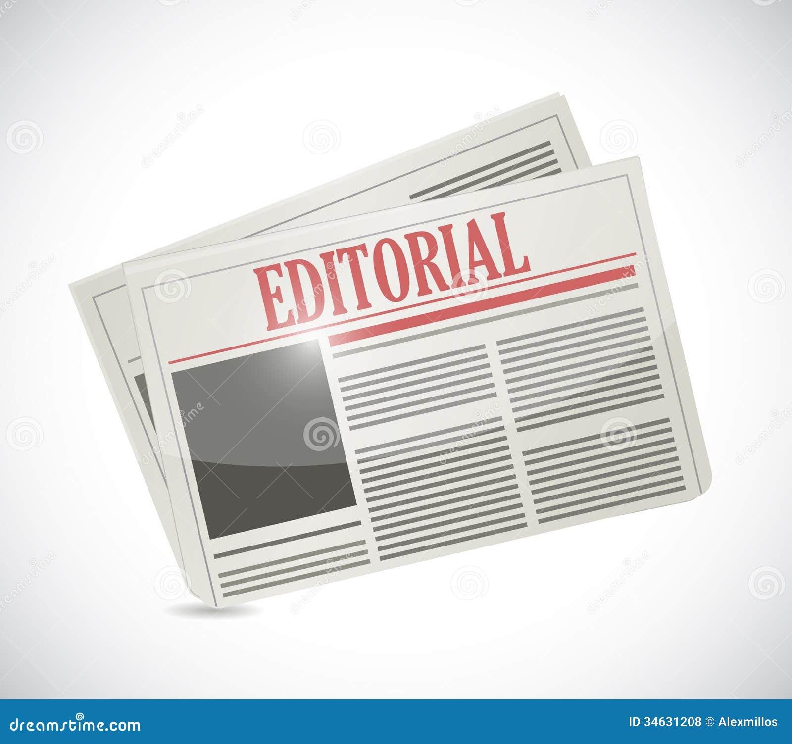 Het redactieontwerp van de krantenillustratie