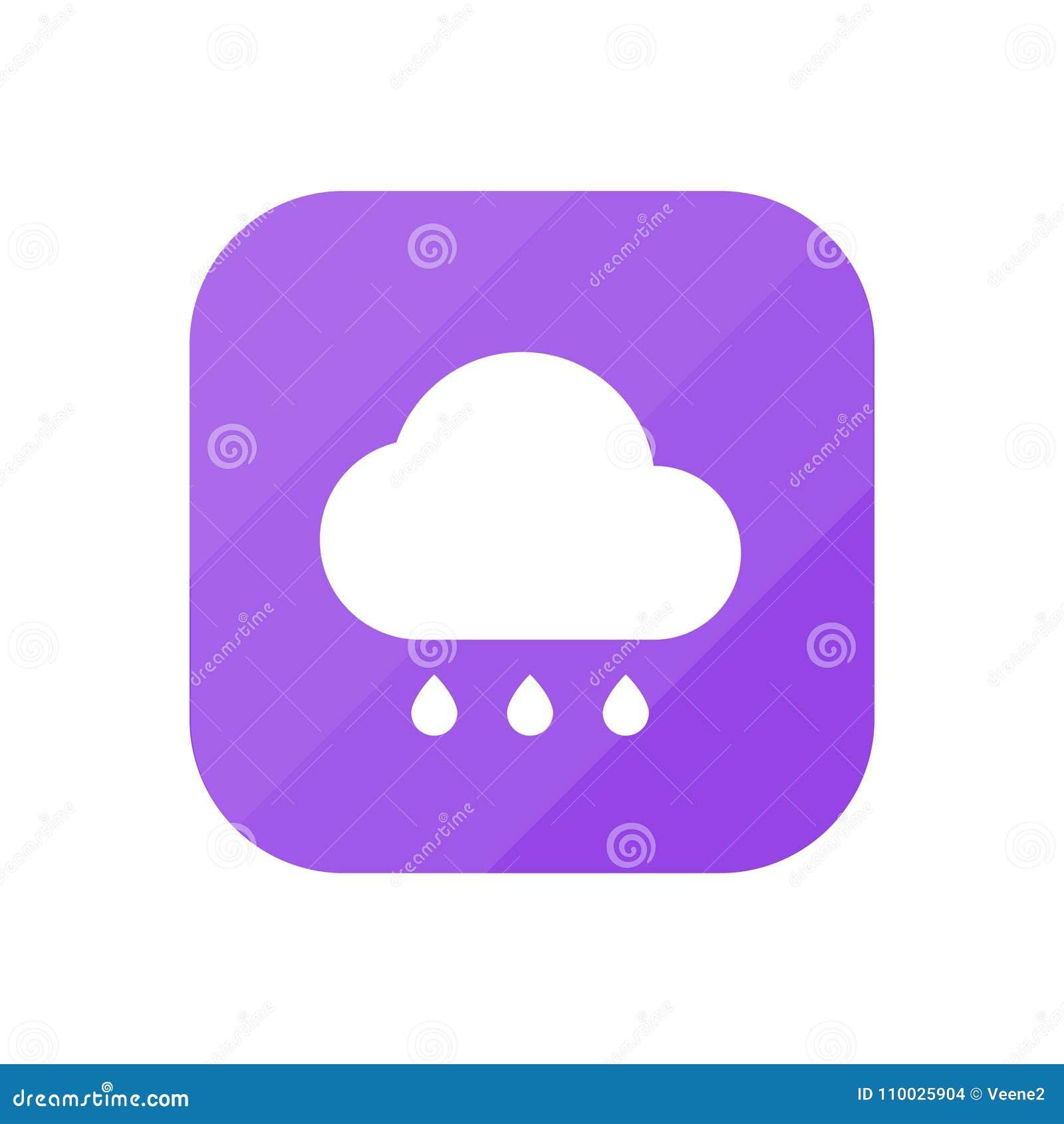 Het regenen - App Pictogram