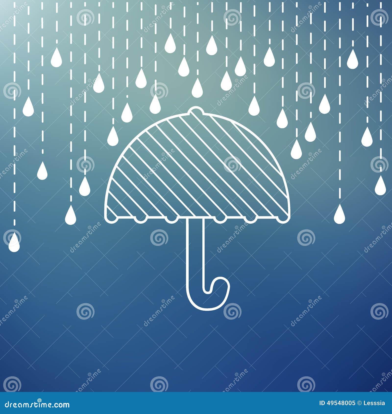 Het regenen op een paraplu
