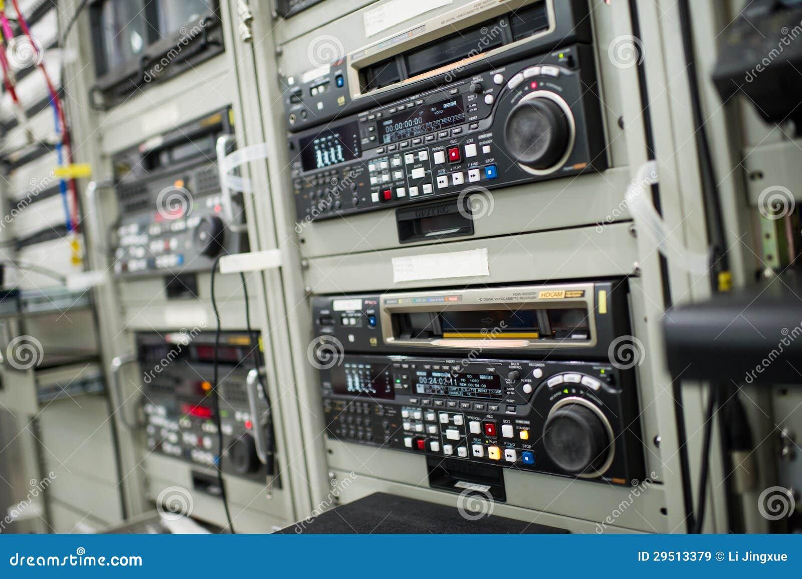 Het registreertoestel van de uitzending vcr