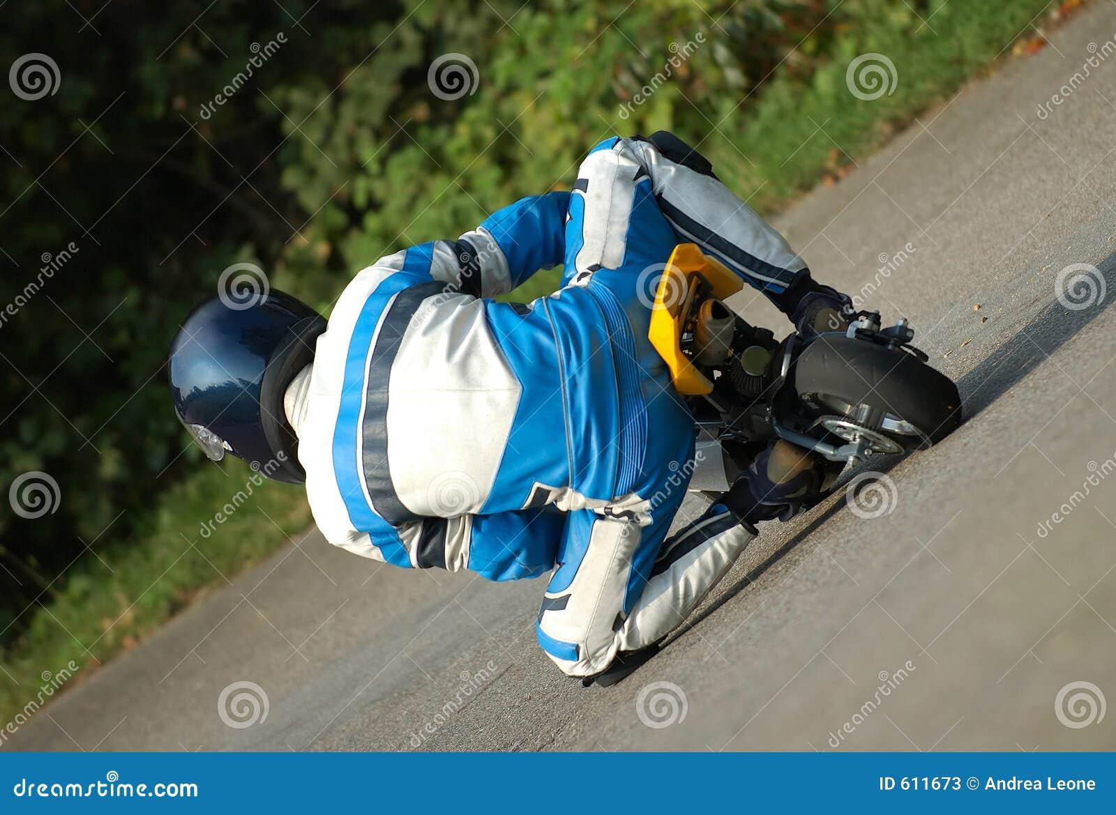 Het rennen van Minibike
