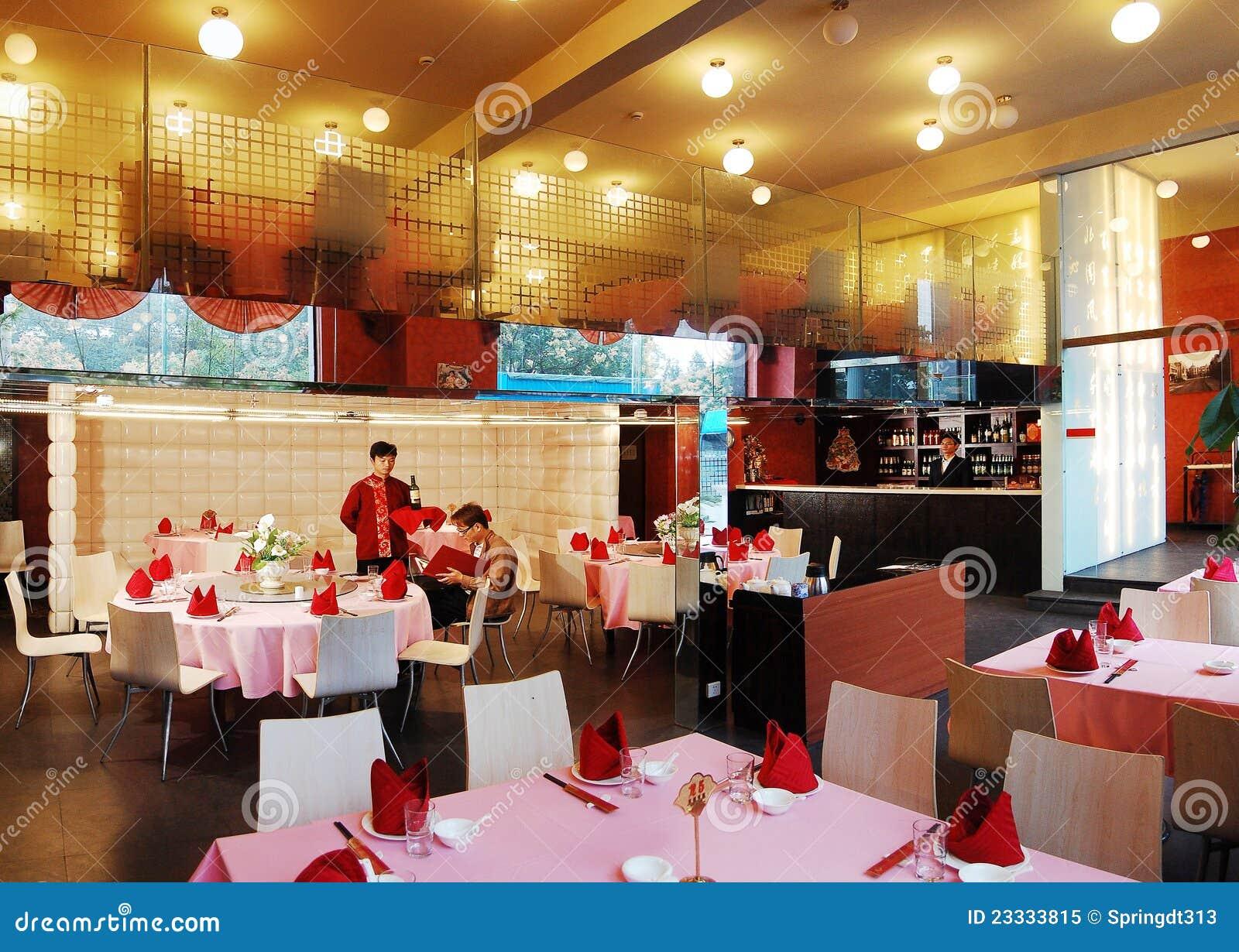 Het restaurant van de luxe redactionele afbeelding afbeelding
