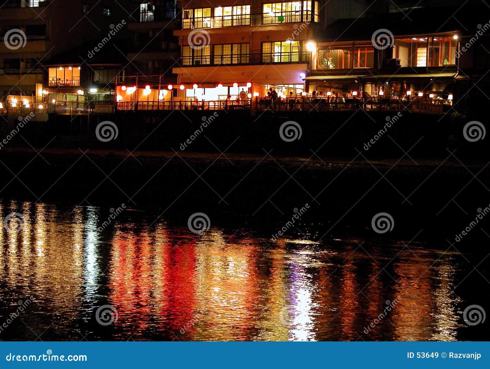 Het restaurant van de rivieroever