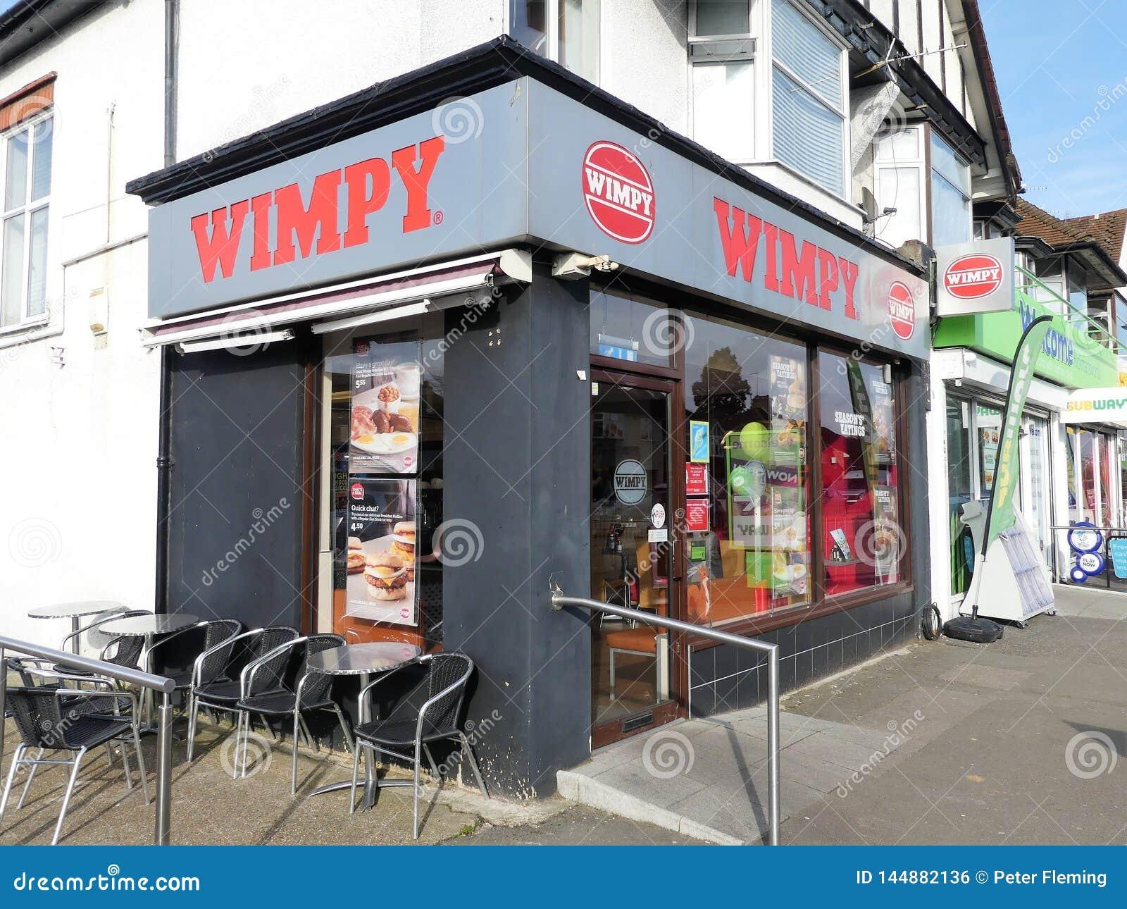 Het restaurant van het Wimpy snelle voedsel, de Parade van de 7 Geldheuvel, Rickmansworth
