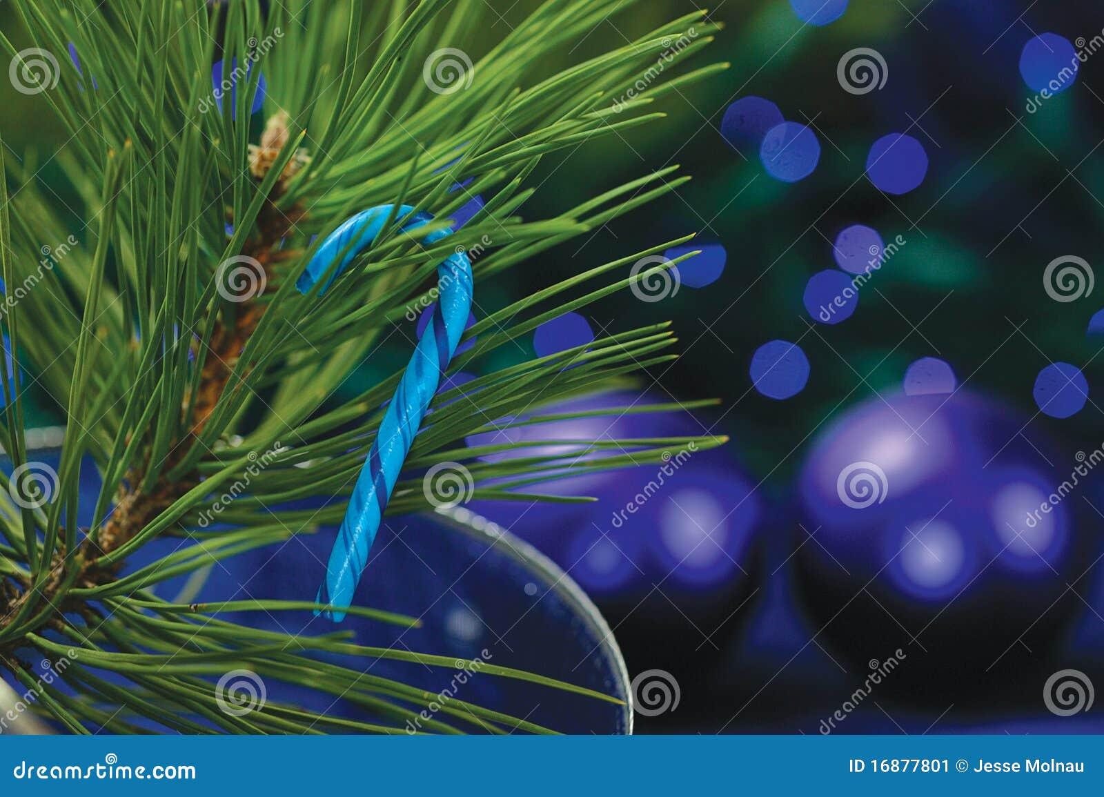Het Riet van het suikergoed op Kerstboom