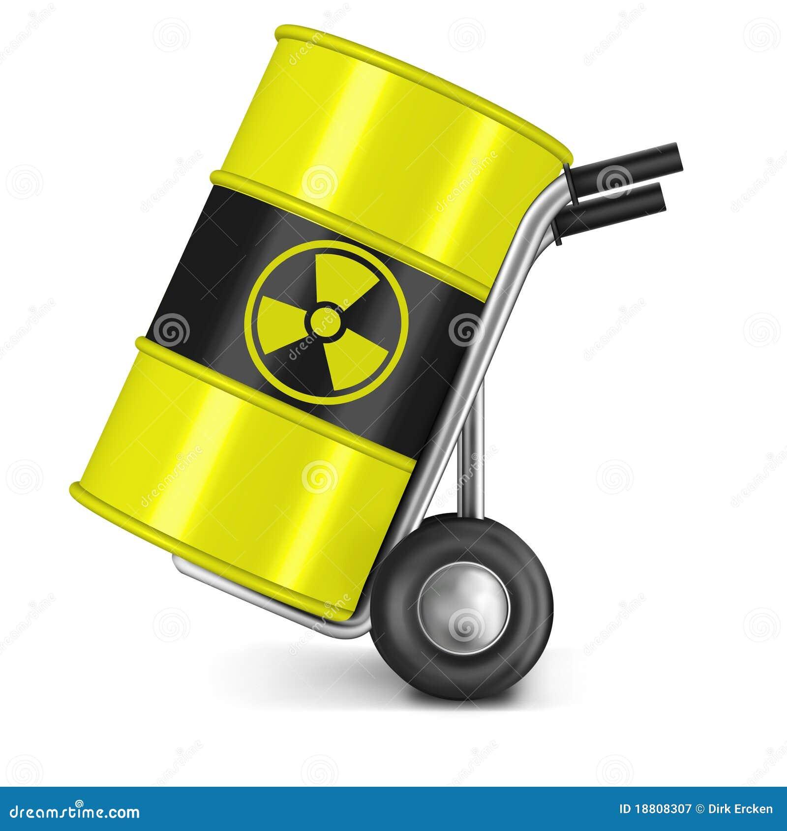 Het risico van de radioactief afval kernmacht