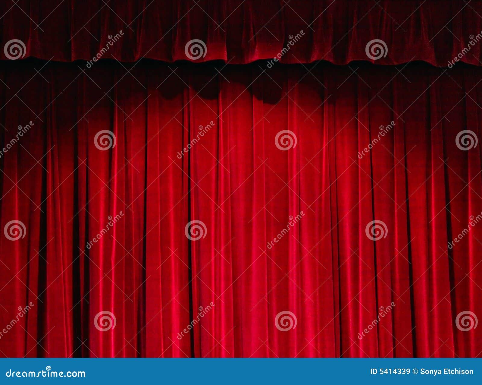 Het rode Gordijn van het Theater