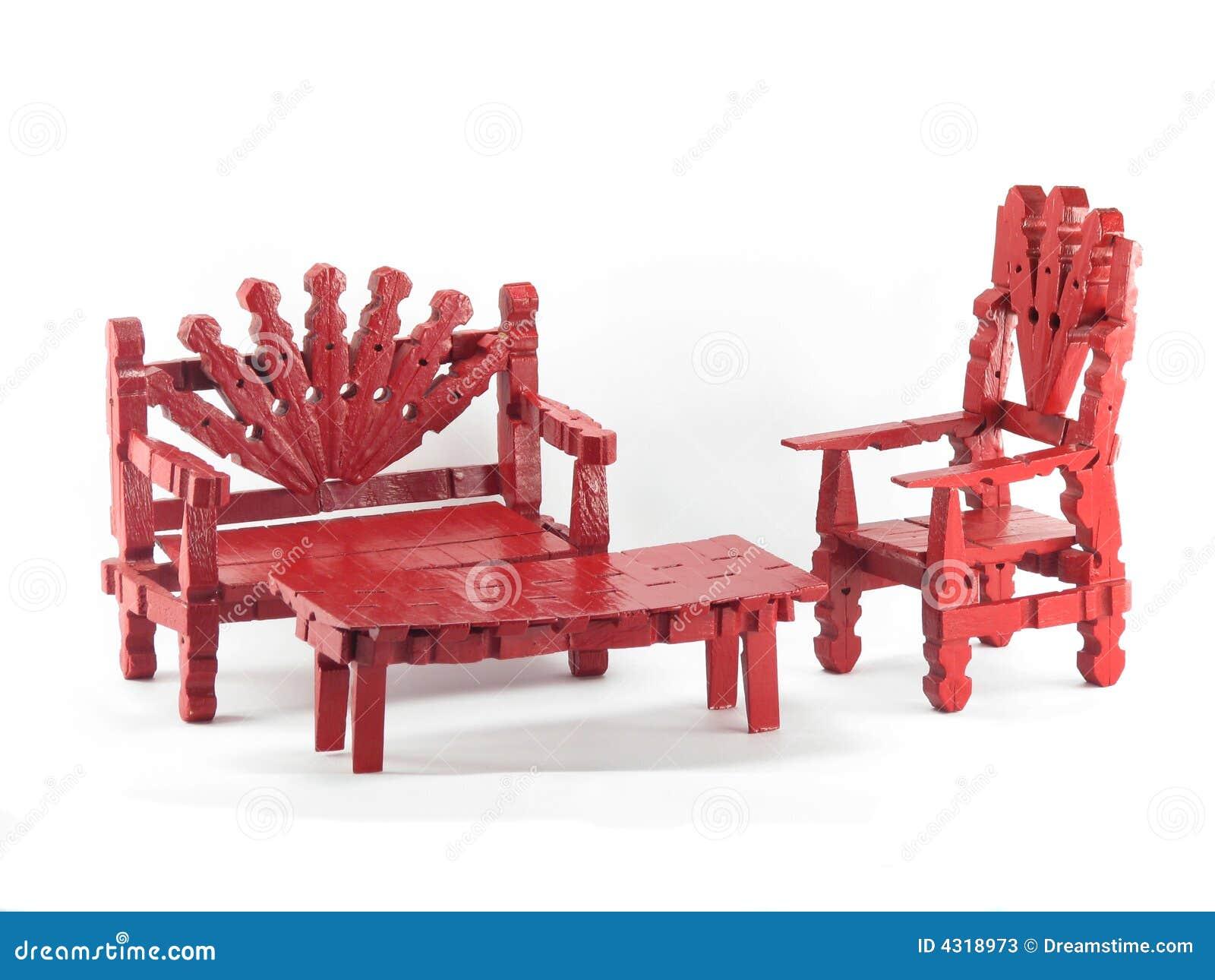 Het rode meubilair van de wasknijper stock afbeelding afbeelding 4318973 - Meubilair tv rode ...