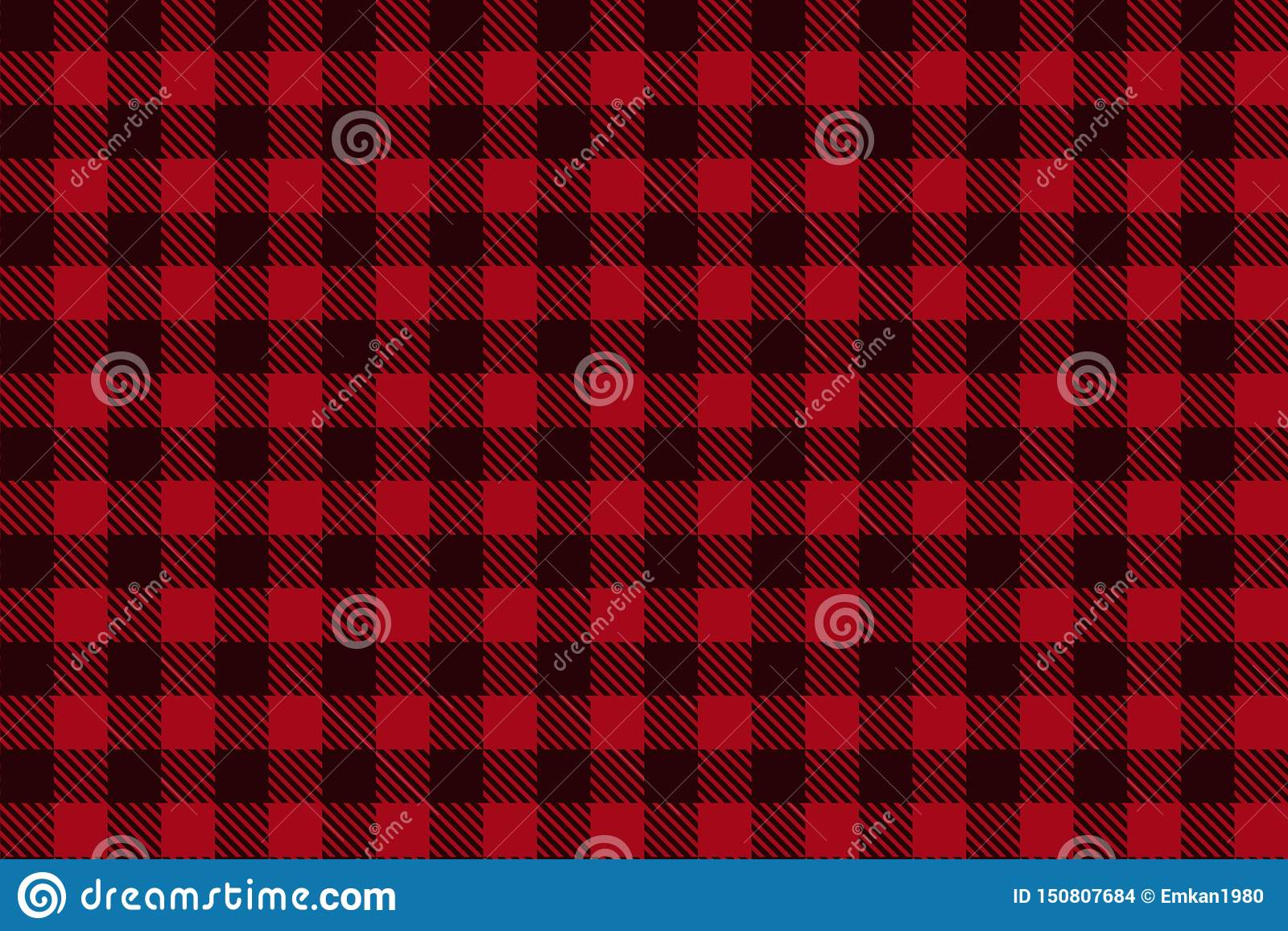 Het rode Zwarte naadloze patroon van de Houthakkersplaid