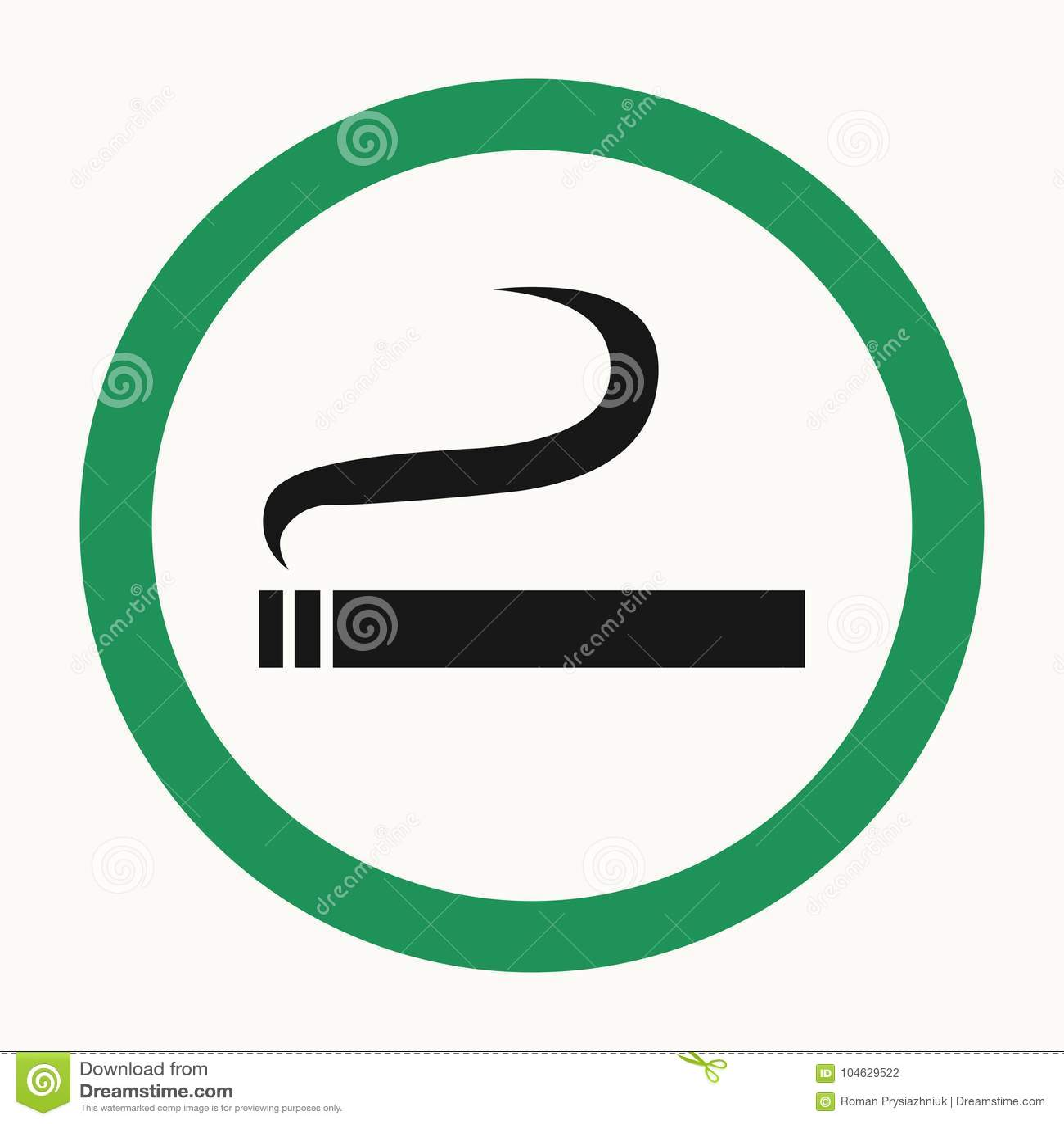 Download Het Roken Gebied Teken Met Sigaret Vector Illustratie Vector Illustratie - Illustratie bestaande uit nicotine, allow: 104629522