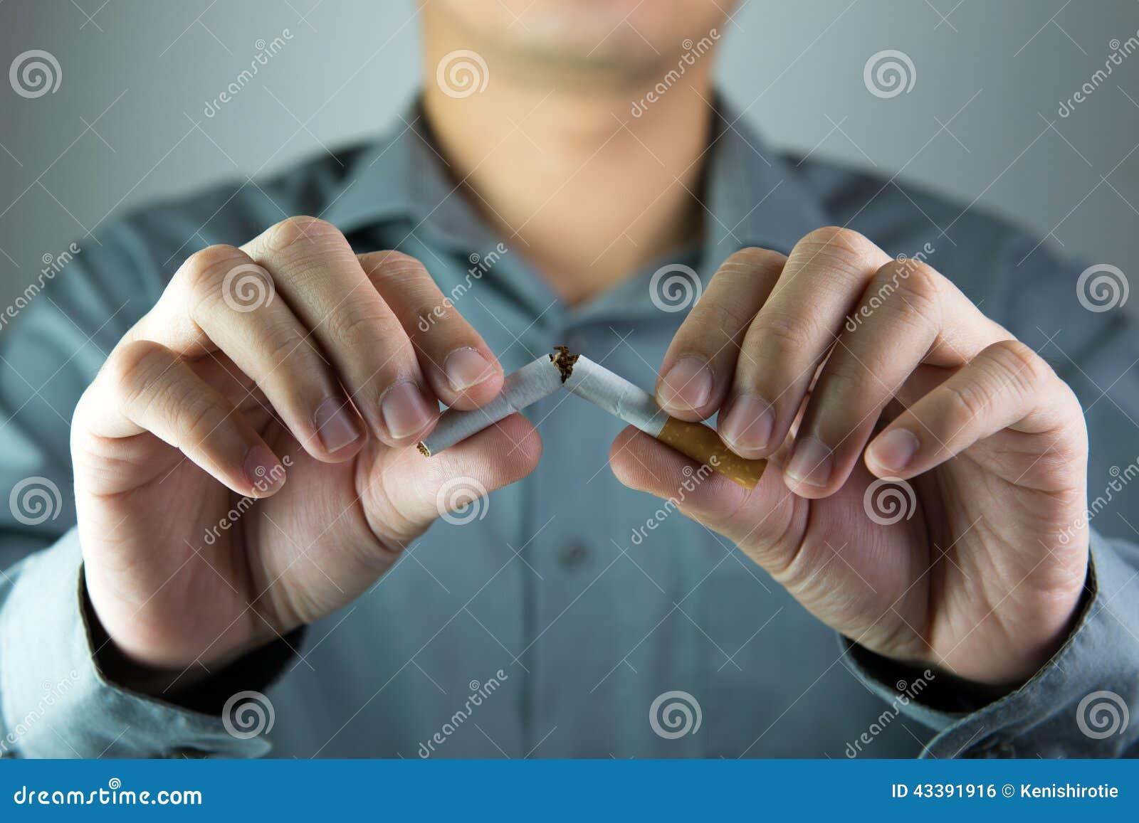 Het roken van het einde
