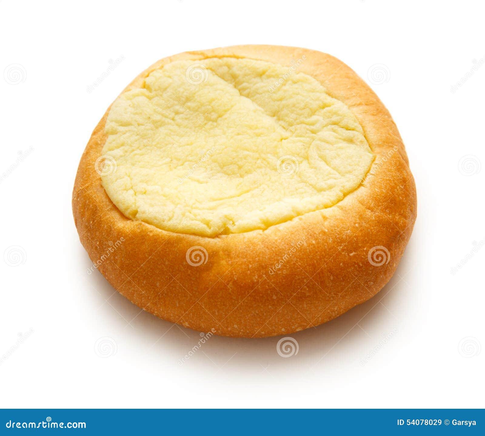 Het ronde broodje van het zure roomdessert