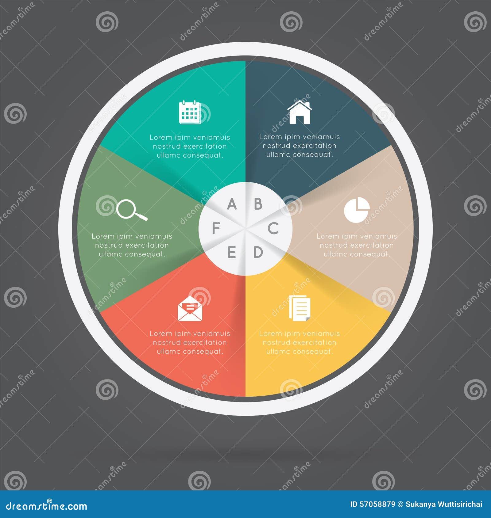Het rondschrijven van Infographicelementen
