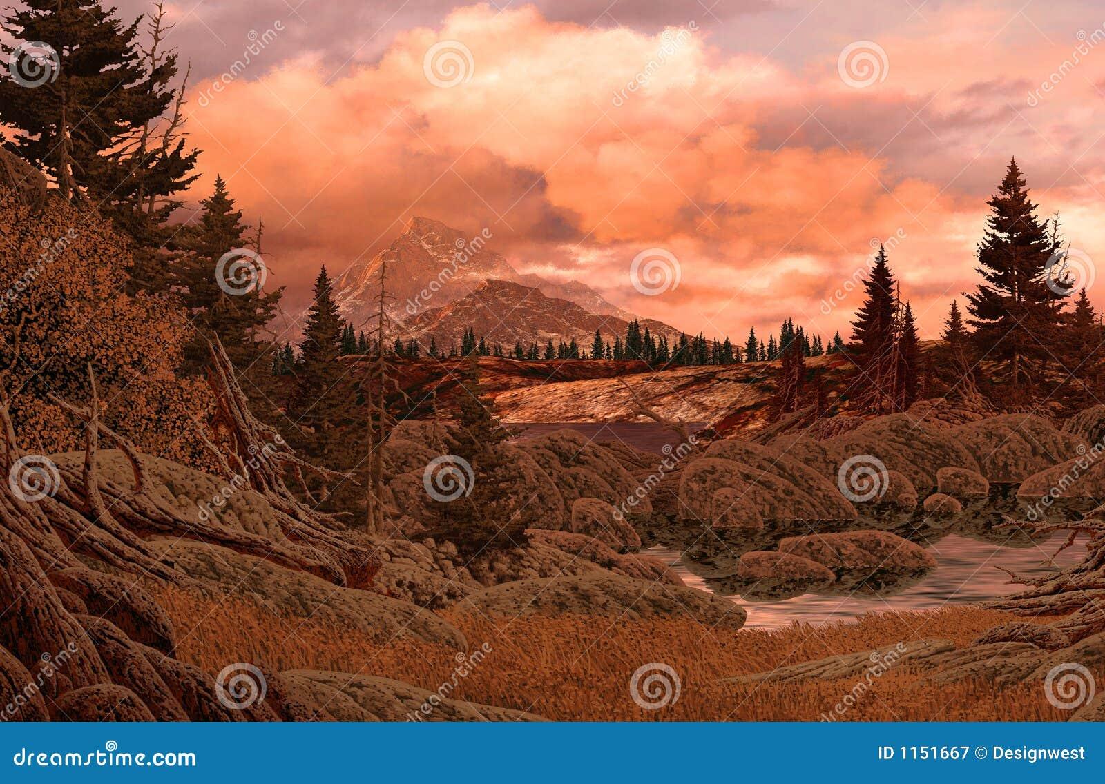 Het rotsachtige Landschap van de Berg