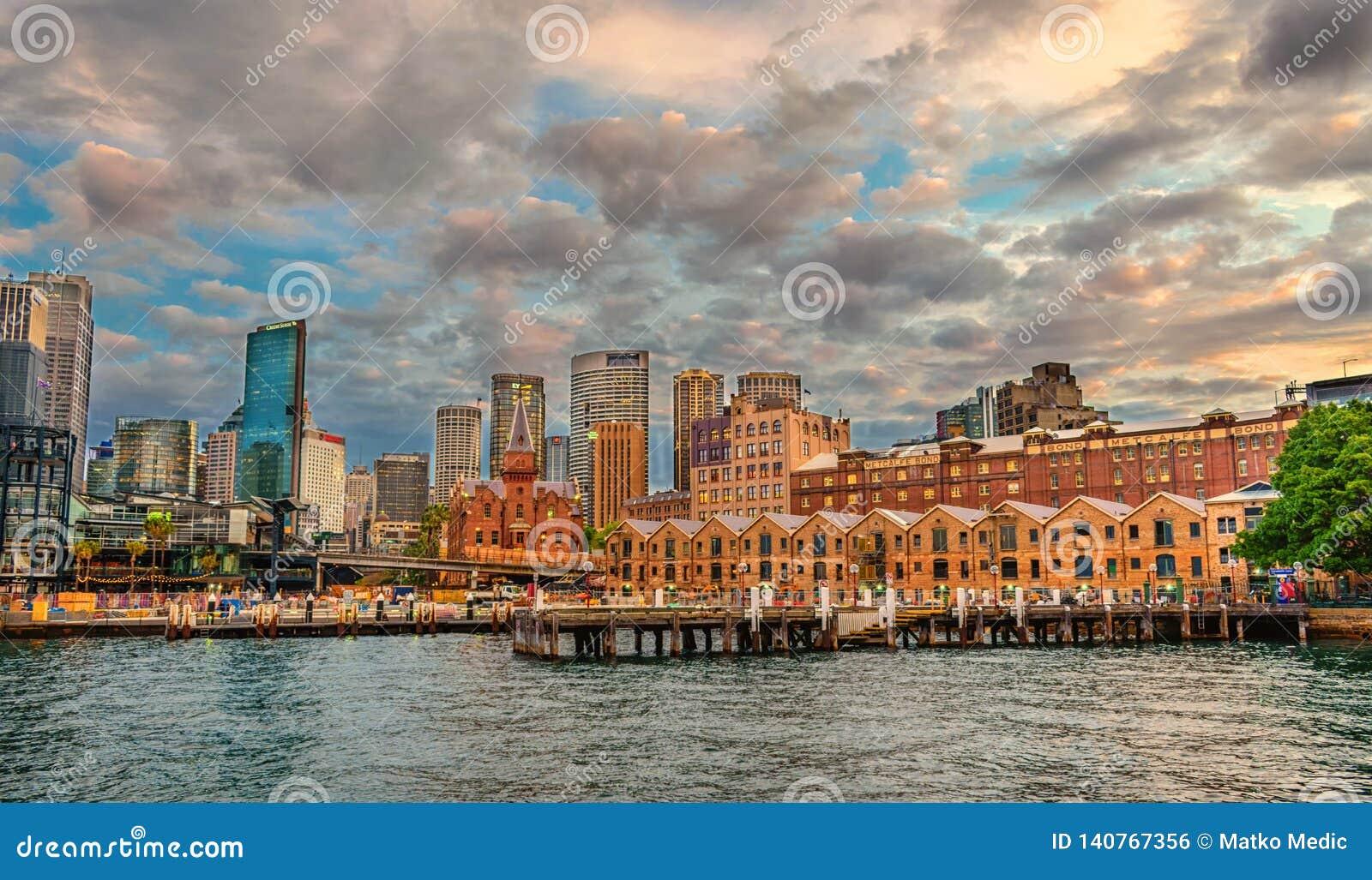 Het Rotsendistrict, de stadscentrum van Sydney Sydney, Australië