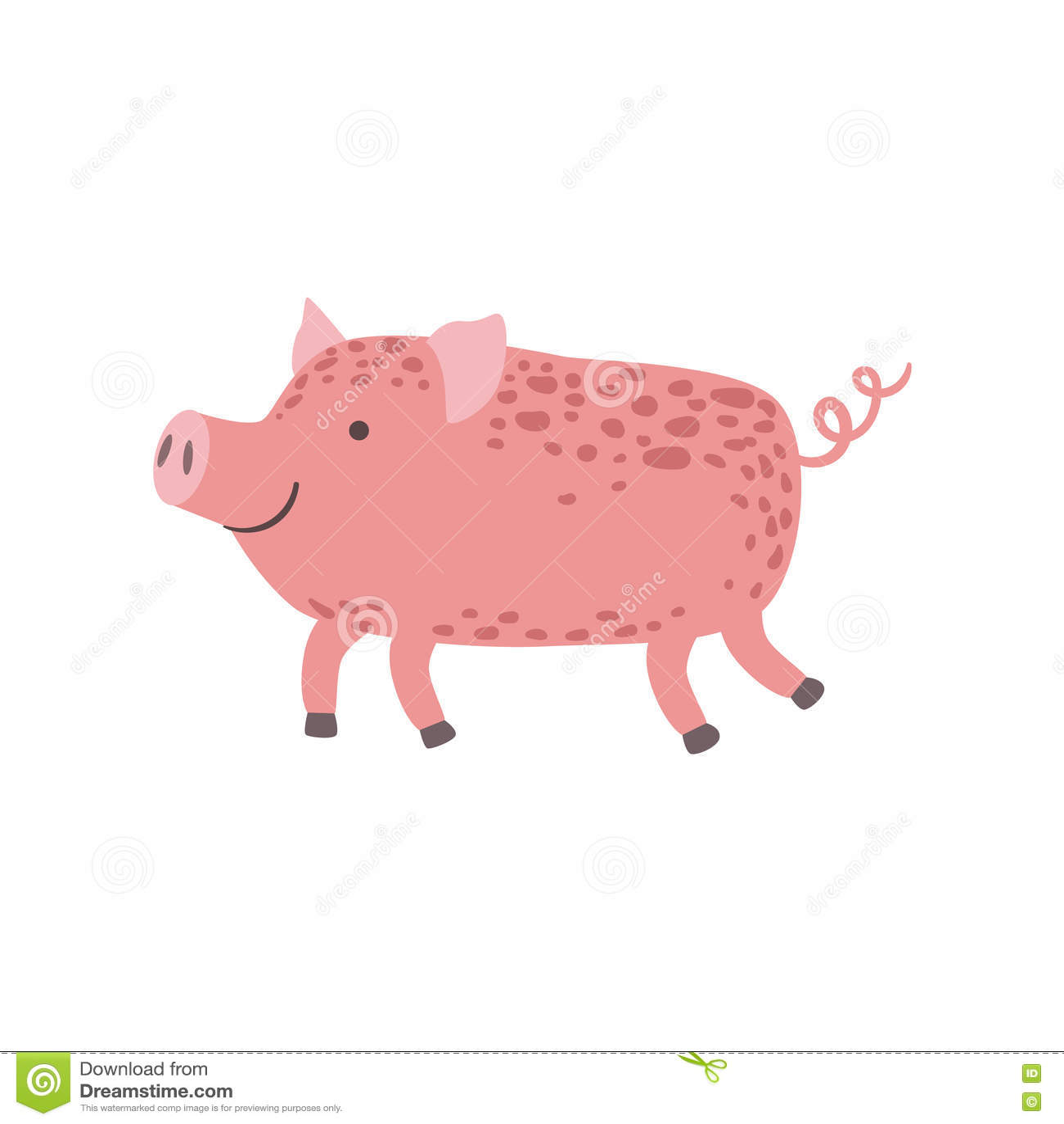 Het roze Biggetje Lopen