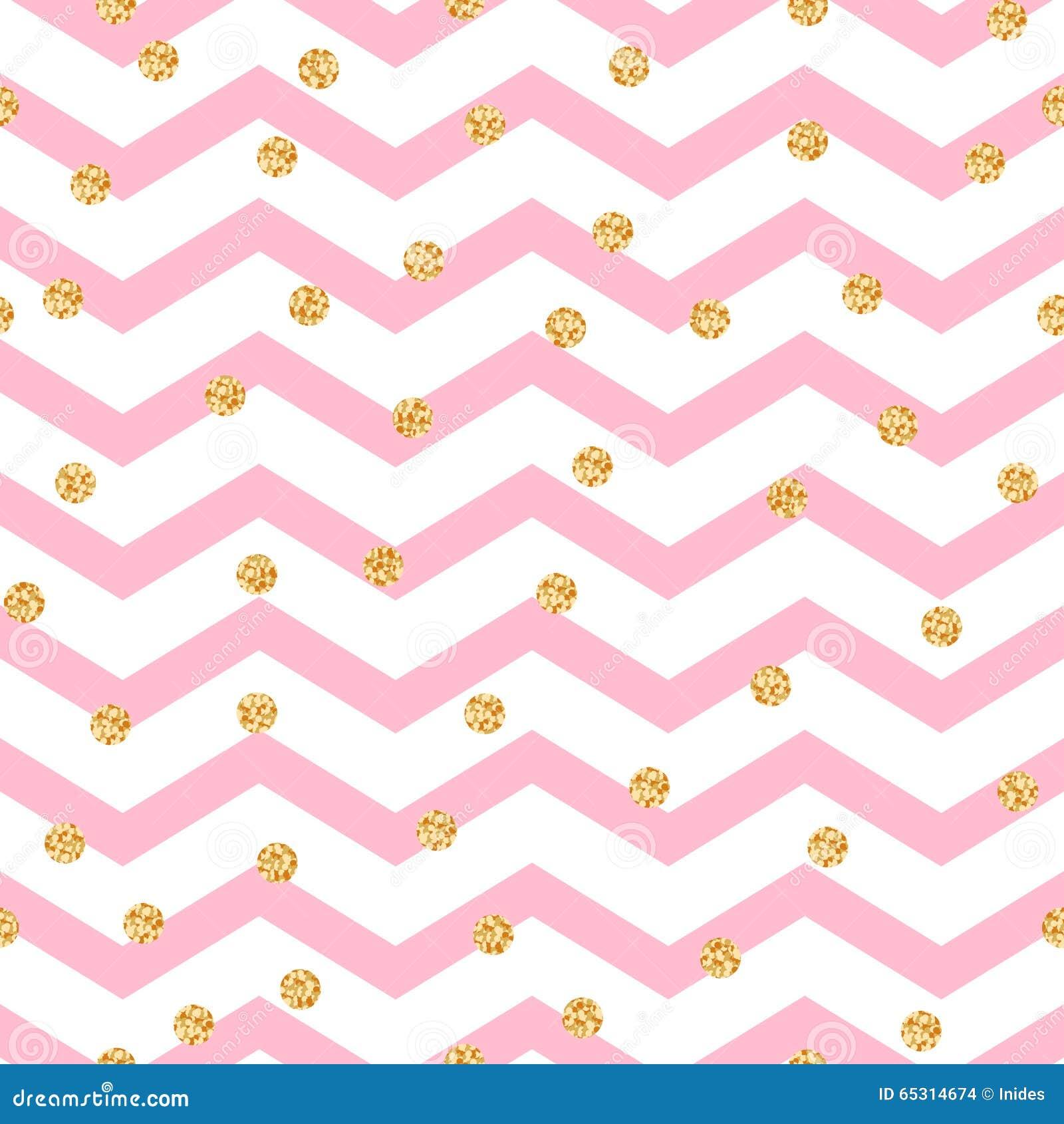 Het roze en witte naadloze patroon van de chevronzigzag