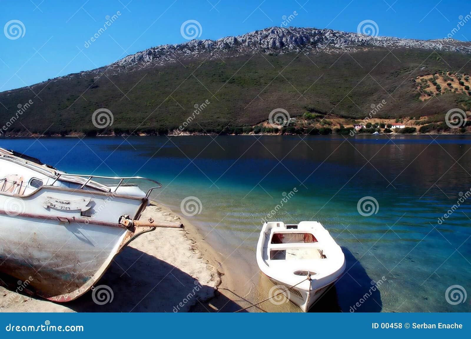 Het rusten van boten