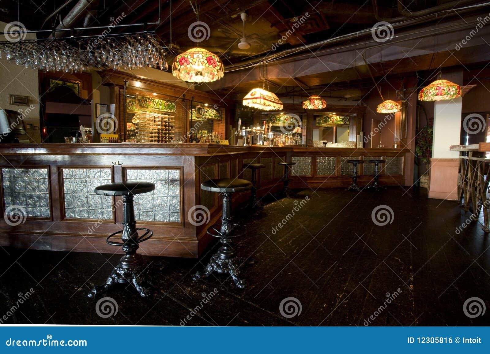 Het rustieke Binnenland van de Staaf van de Bar