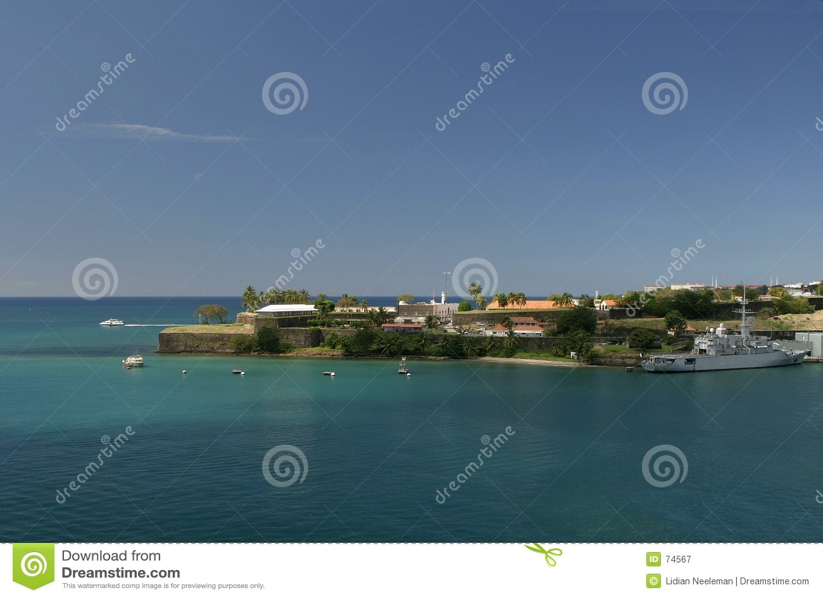 Het Saint Louis van het fort, Martinique