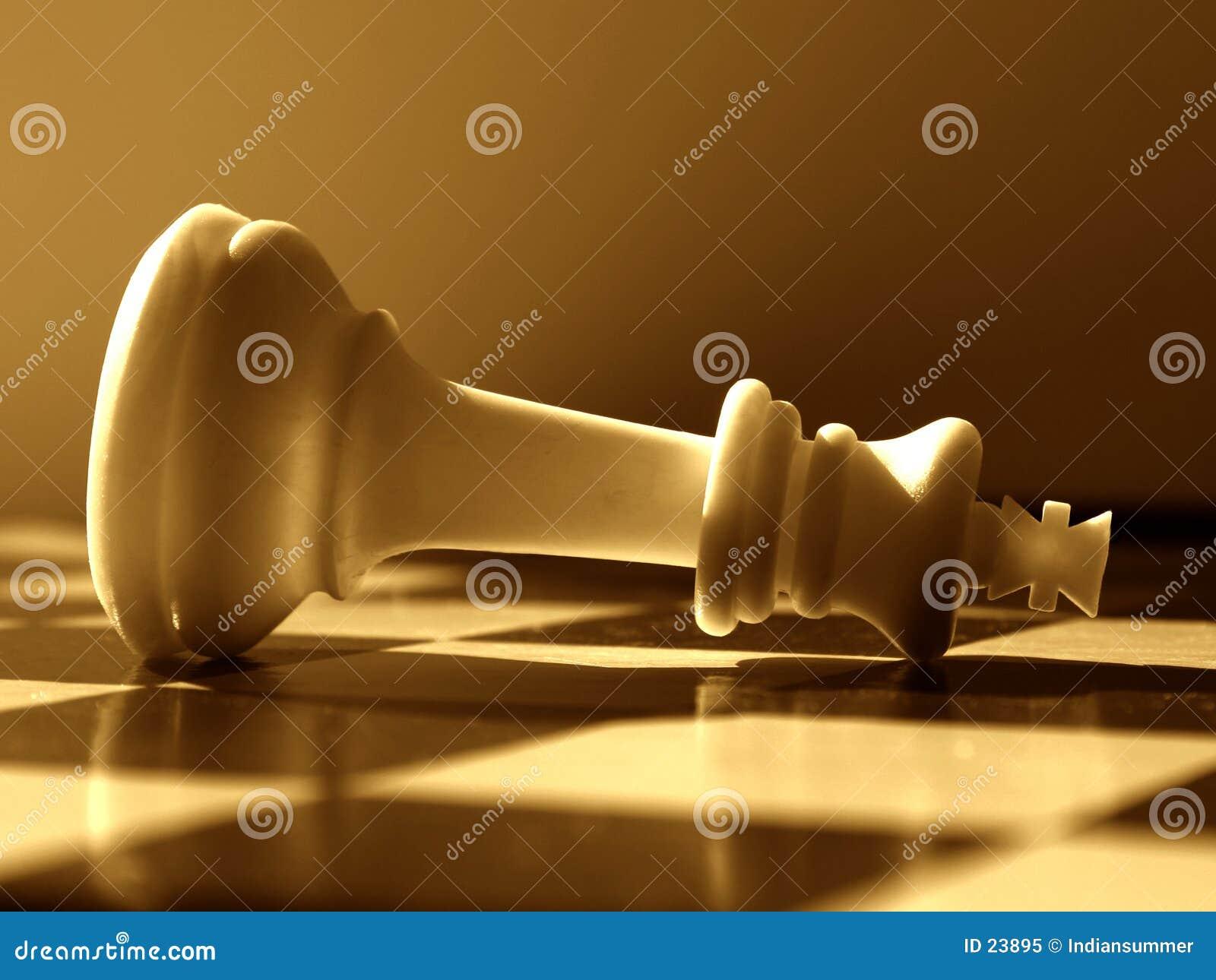 Het scenario van het schaak