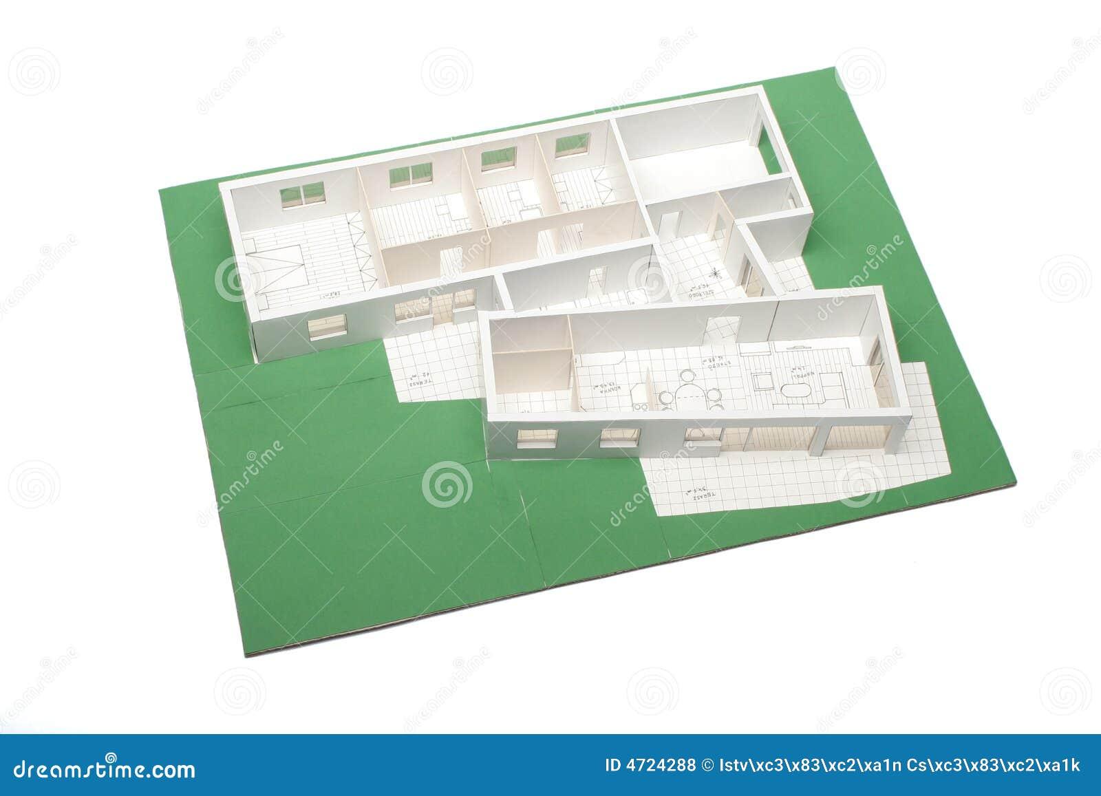 Het schaal model van het huis stock illustratie afbeelding 4724288 - Groen huis model ...