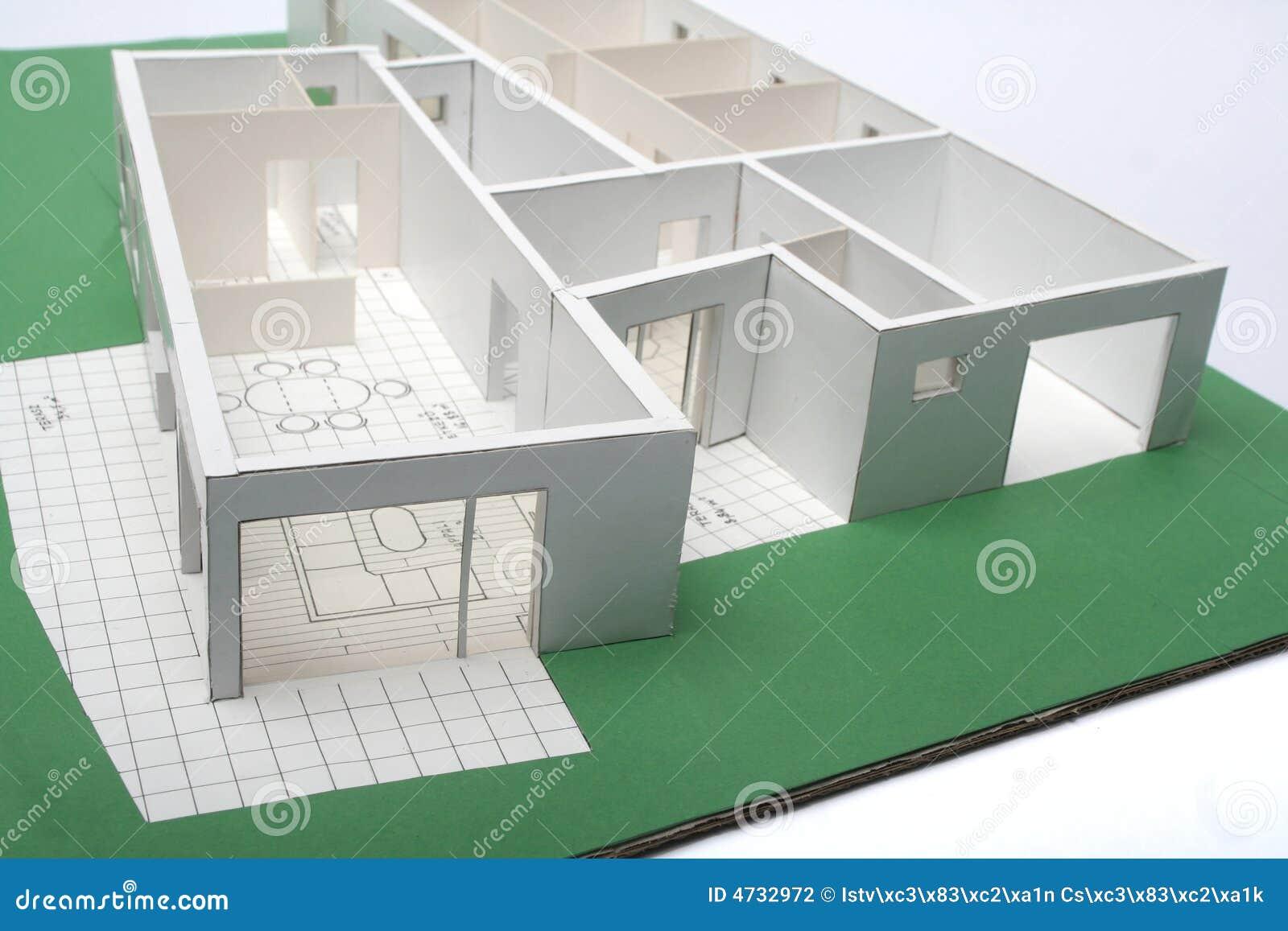 Het schaal model van het huis stock fotografie afbeelding 4732972 - Huis exterieur model ...
