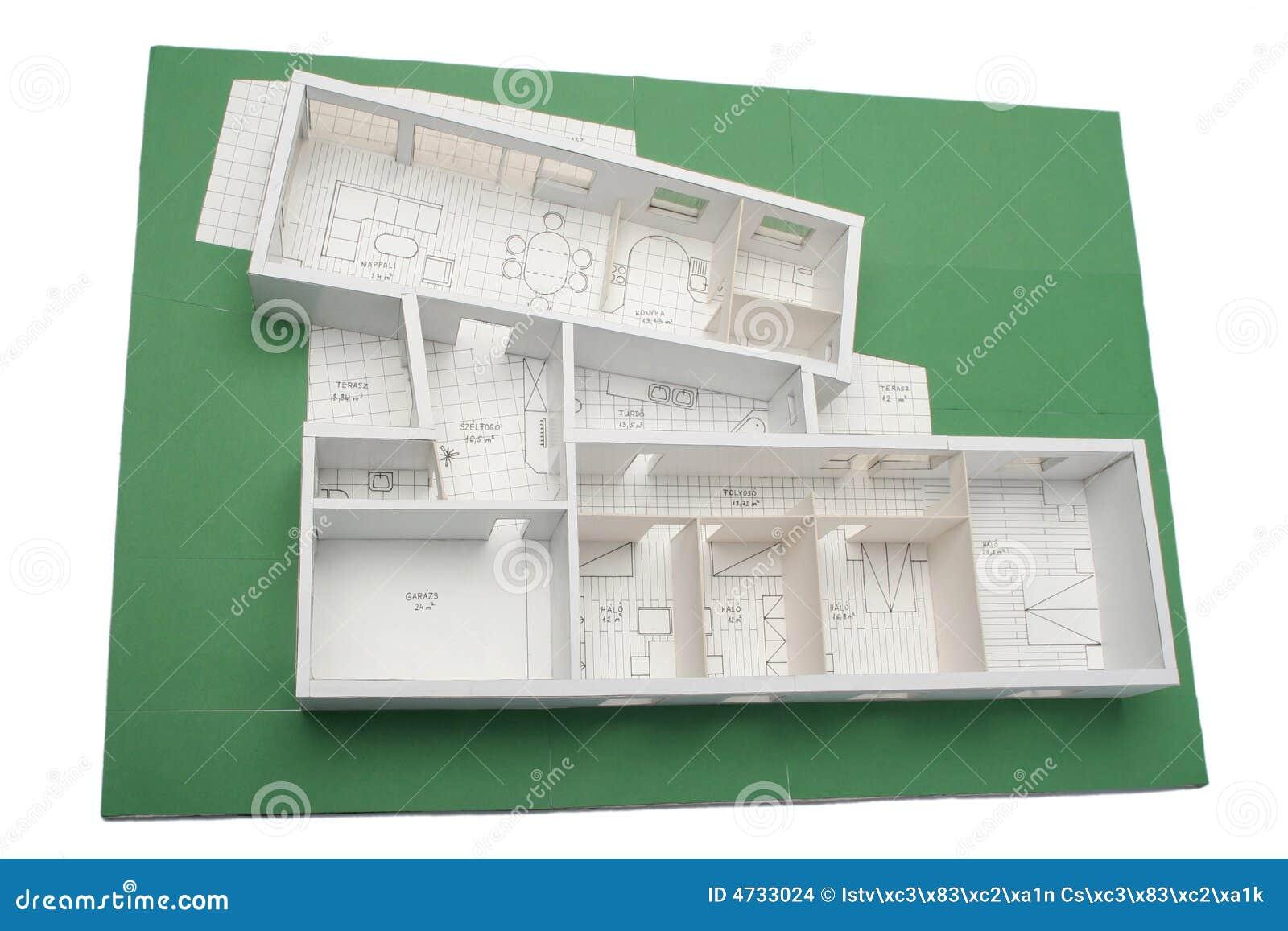 Het schaal model van het huis stock afbeeldingen afbeelding 4733024 - Groen huis model ...