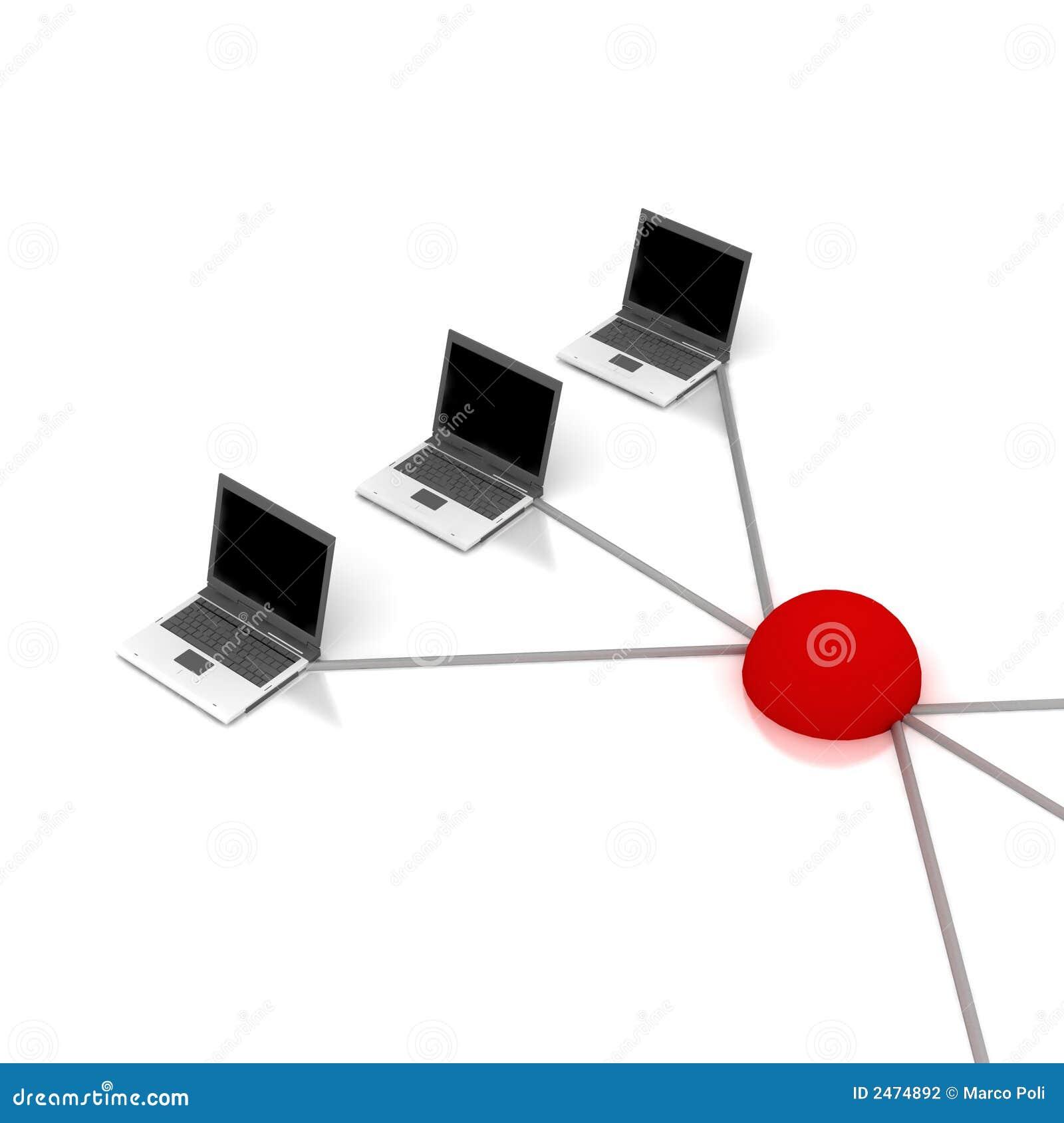 Het schema van het voorzien van een netwerk