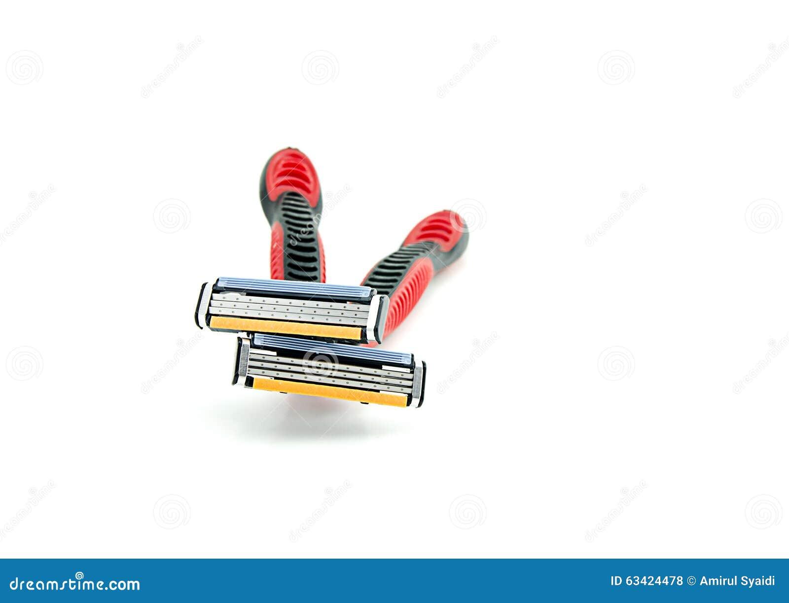 Het scheren twee scheermes stock foto afbeelding 63424478 - Witte kapper ...